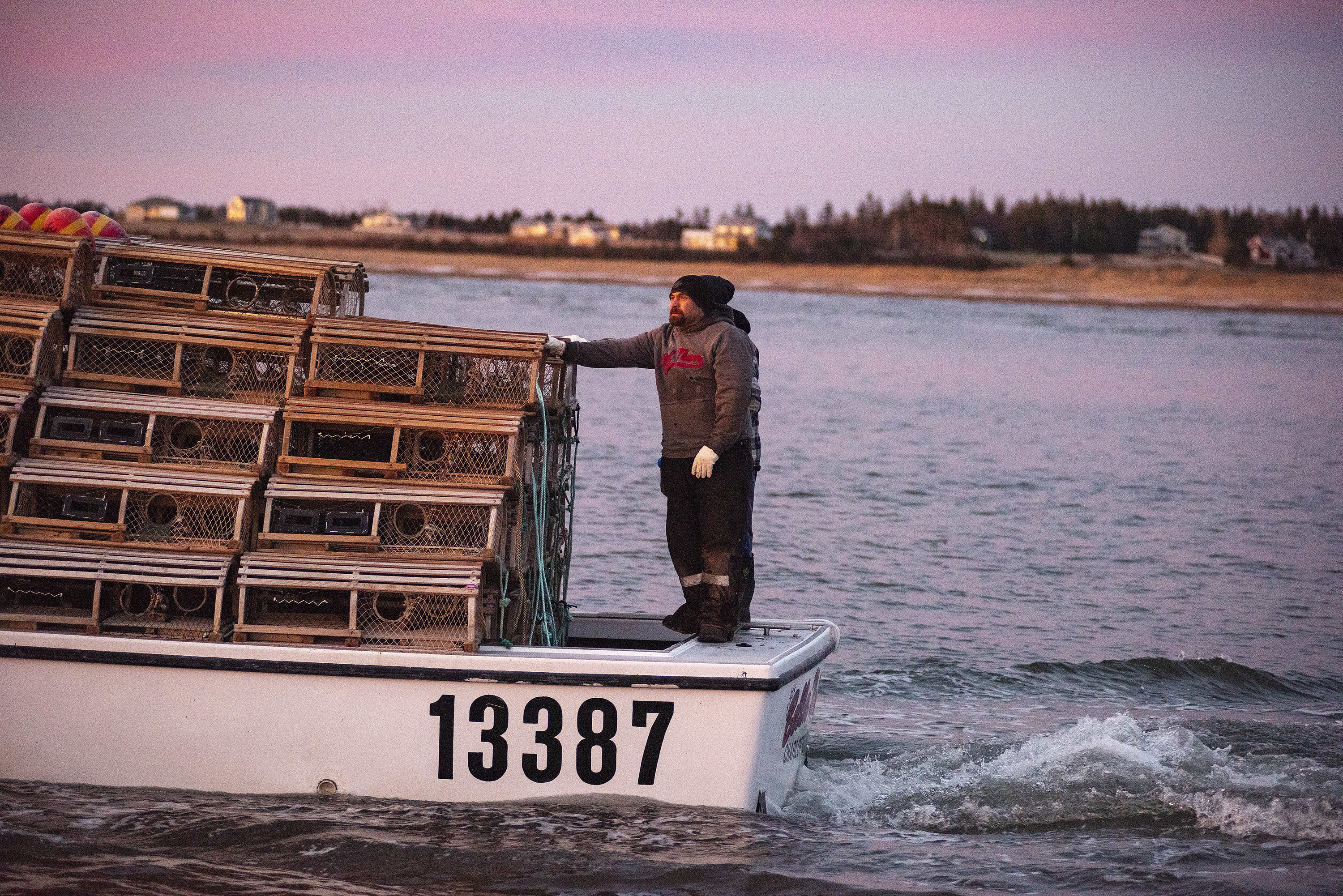 It was a beautiful morning as the boats headed out and every fishermen asked said they were relieved to finally be getting out on the water after the delay. (Brian McInnis)