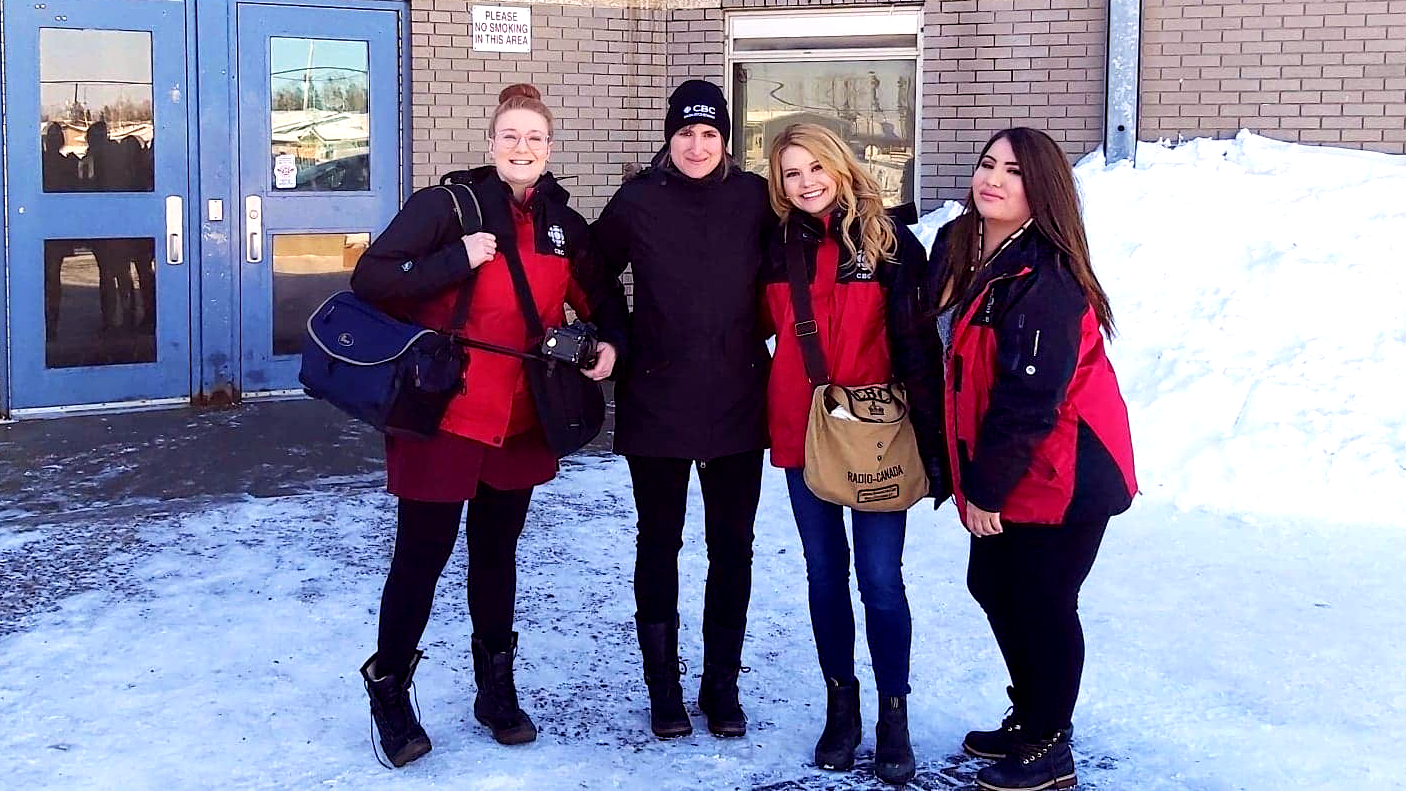 The CBC Saskatchewan Stanley Mission team was composed of Heidi Atter filming and reporting, Madeline Kotzer producing, and Ntawnis Piapot reporting.