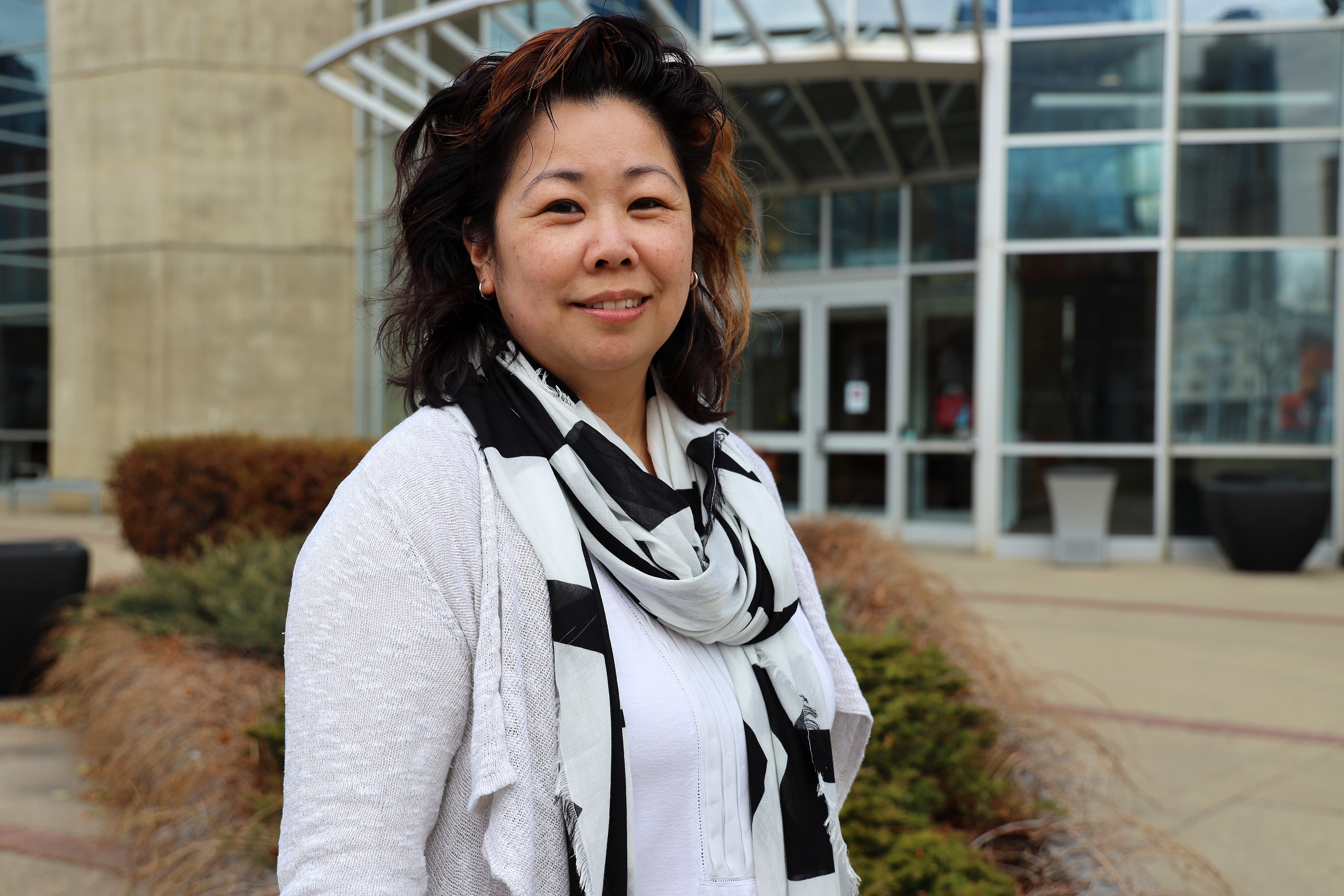 Prof. Sandy Jung is a forensic psychologist who teaches at MacEwan University in Edmonton. (Sam Martin/CBC)