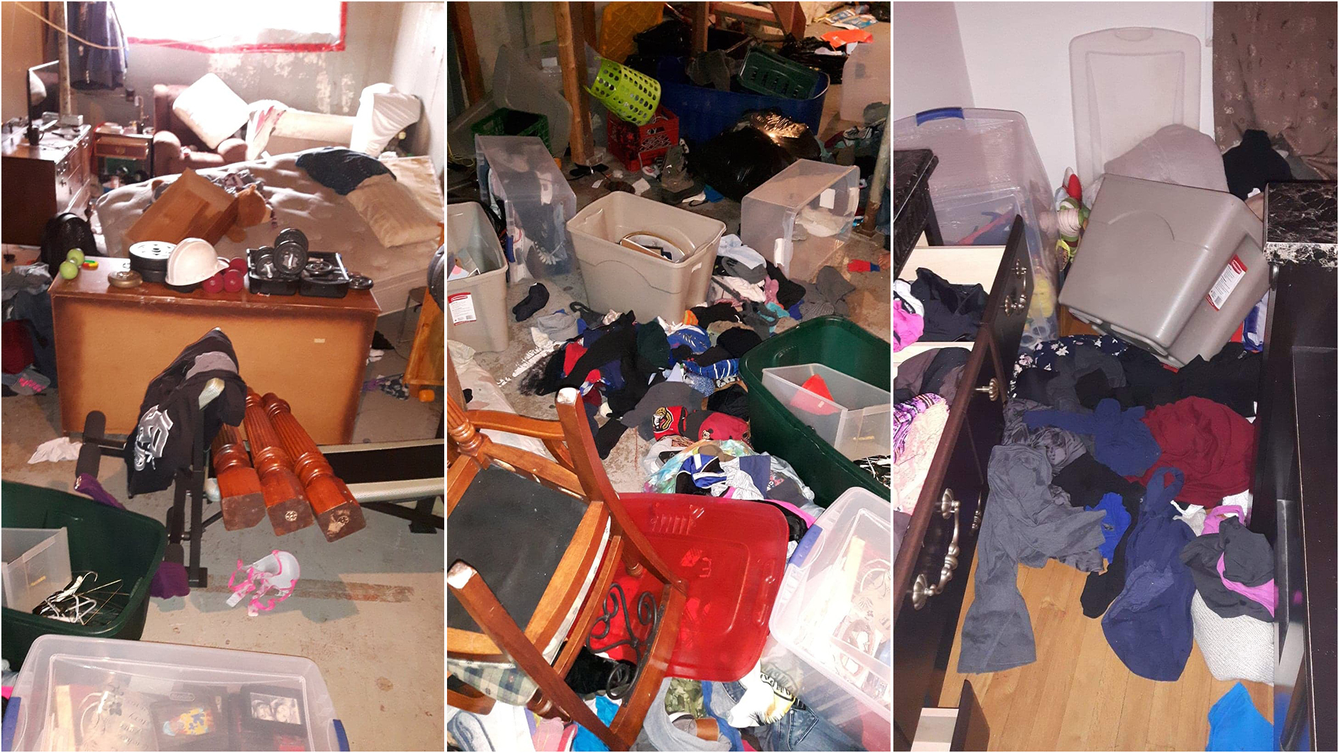 Peter Schneider says it took two days to clean up after police scoured his home looking for guns and explosives. (Submitted by Schneider family)