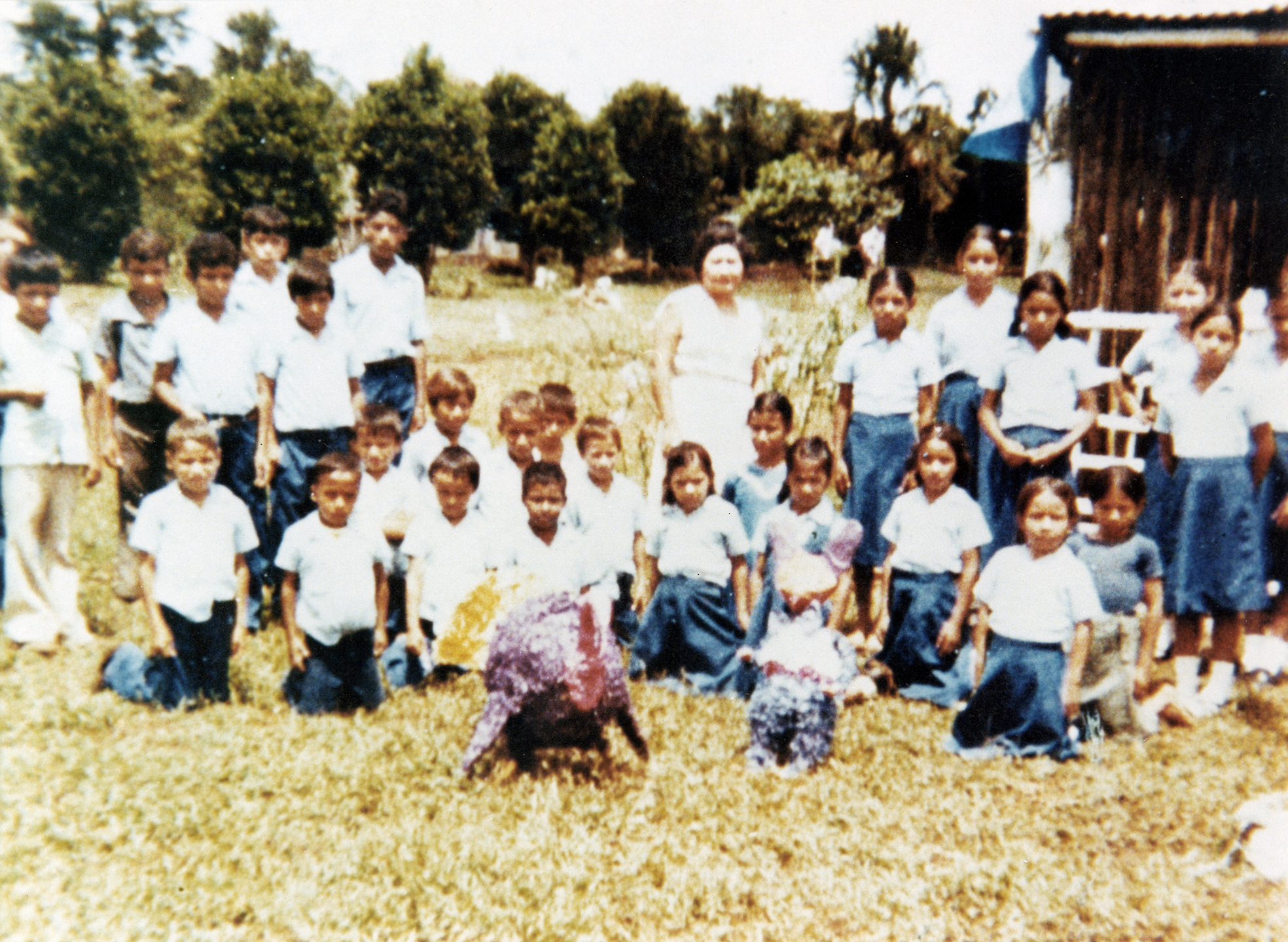 Schoolchildren gather in Dos Erres for an Independence Day celebration on Sept. 15, 1982. (Submitted by Sara Romero)