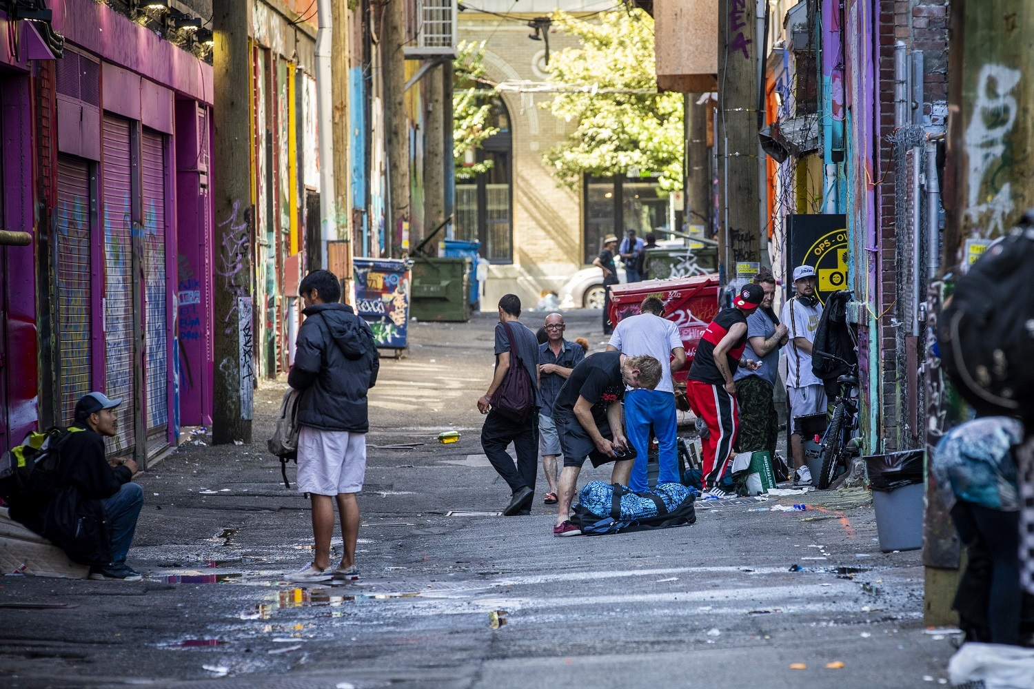 An alley behind Hastings Street in the Downtown Eastside in Vancouver, British Columbia on Friday, September 6, 2019. (Ben Nelms/CBC)
