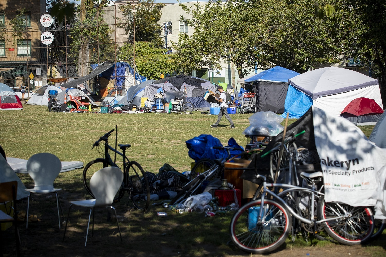 Oppenheimer Park in Vancouver, British Columbia on Friday, September 6, 2019. (Ben Nelms/CBC)