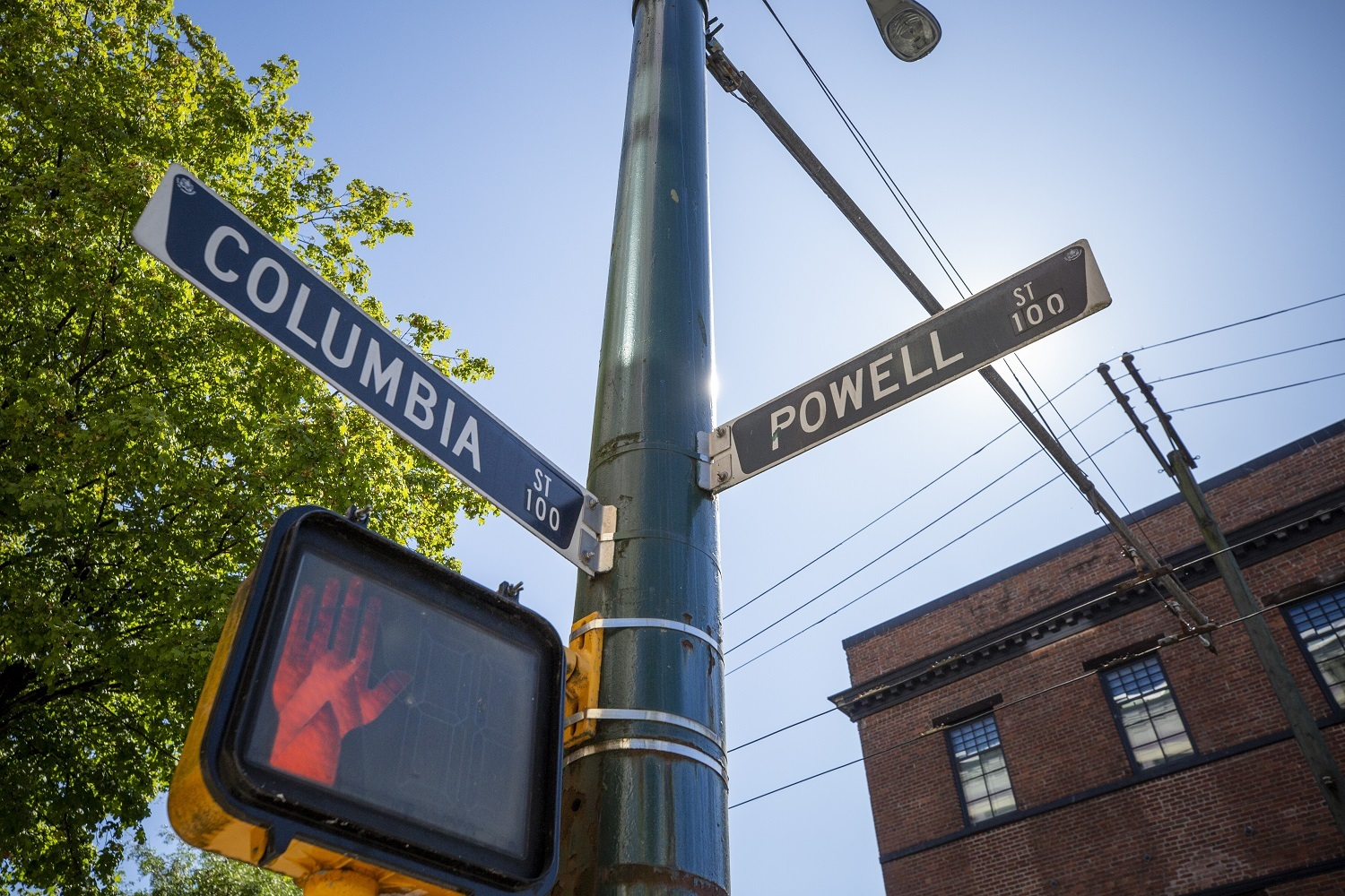 Stephen Quinn once lived at the corner of Columbia Street and Powell Street at the edge of the Downtown Eastside. (Ben Nelms/CBC)