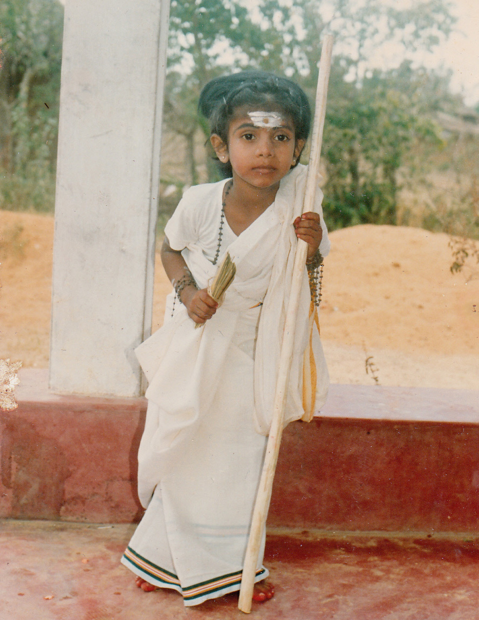 Sharmini as a young child.