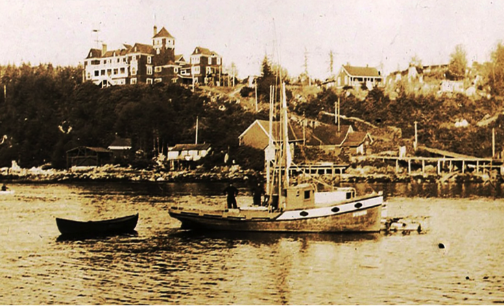 A historic photo of the cable station property in Bamfield. (Bamfield Community Museum and Archives)