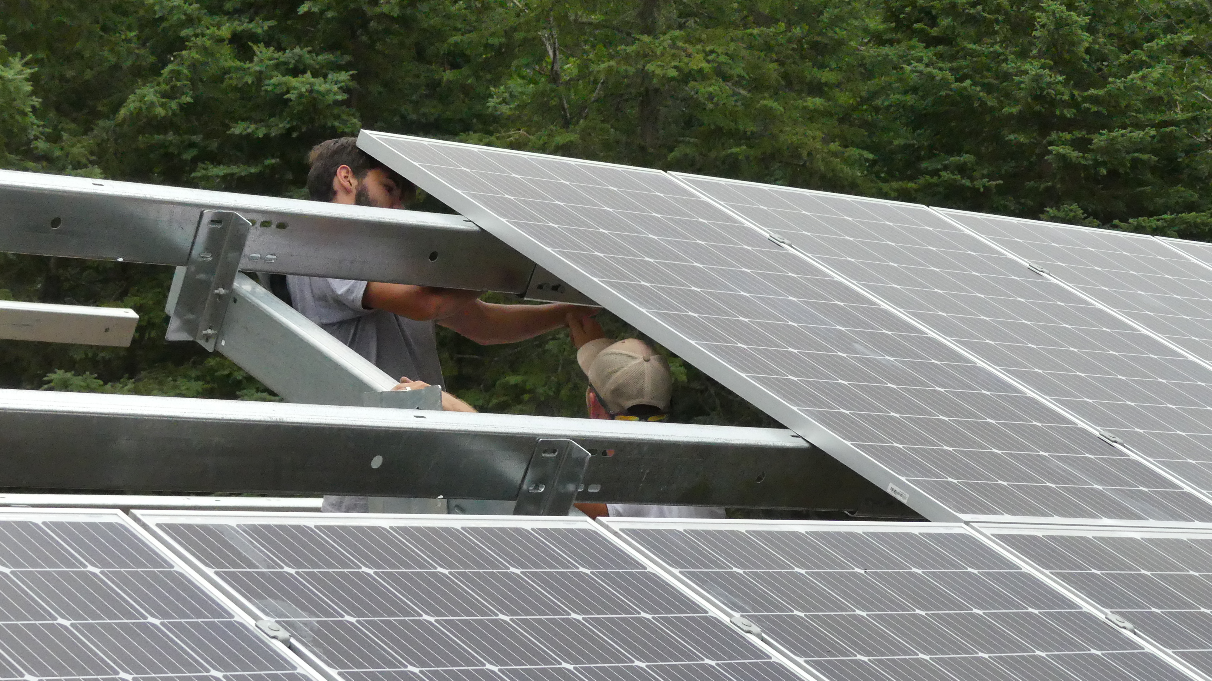 The Harders expect their solar panels to pay for themselves within 11 years. (Cameron MacLean/CBC)