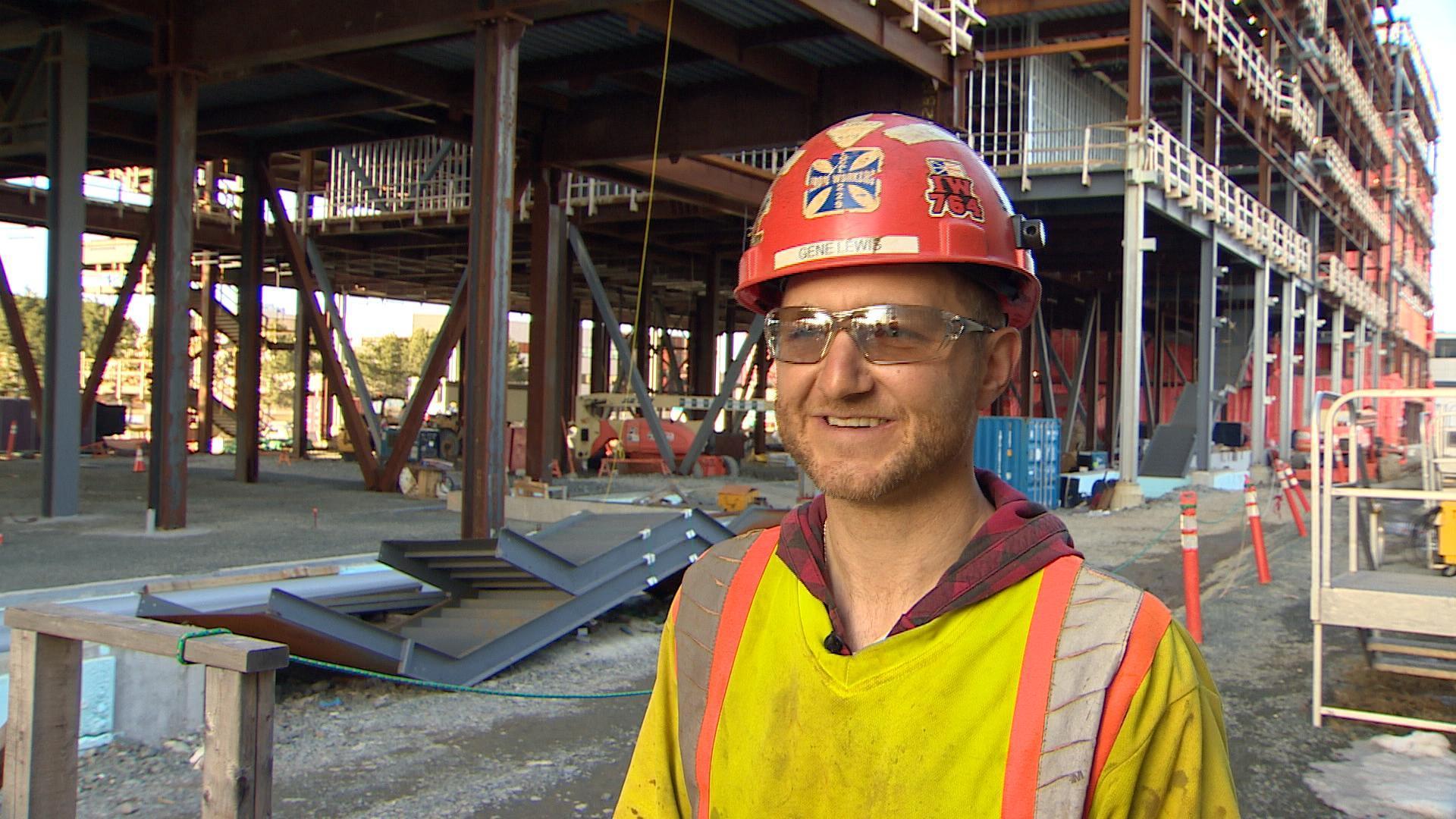 Ironworker Gene Lewis. (CBC)