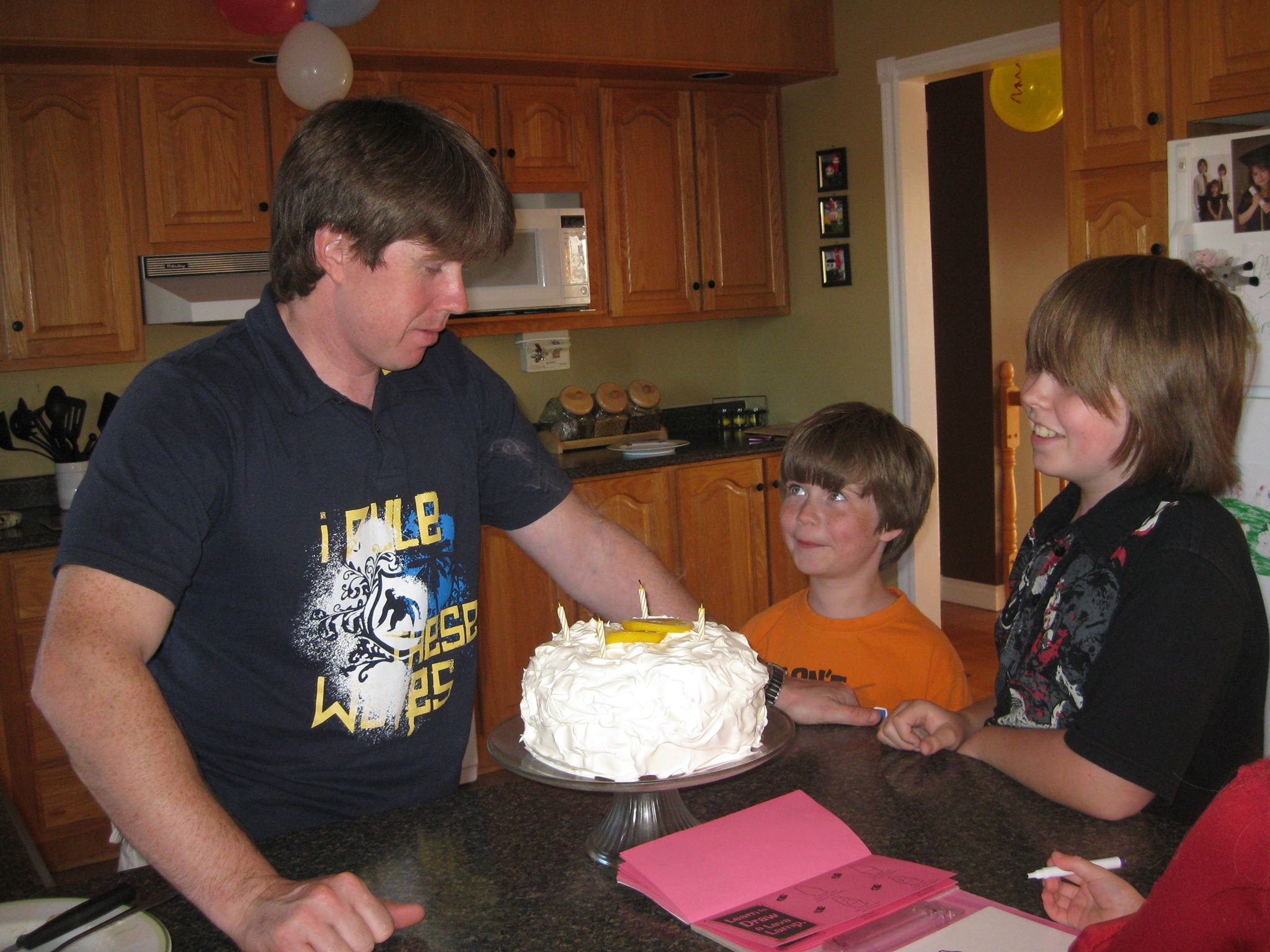Chris McCarthy's birthday celebration in 2009, with his two sons, Ben and Mackenzie. (Submitted by April McCarthy)