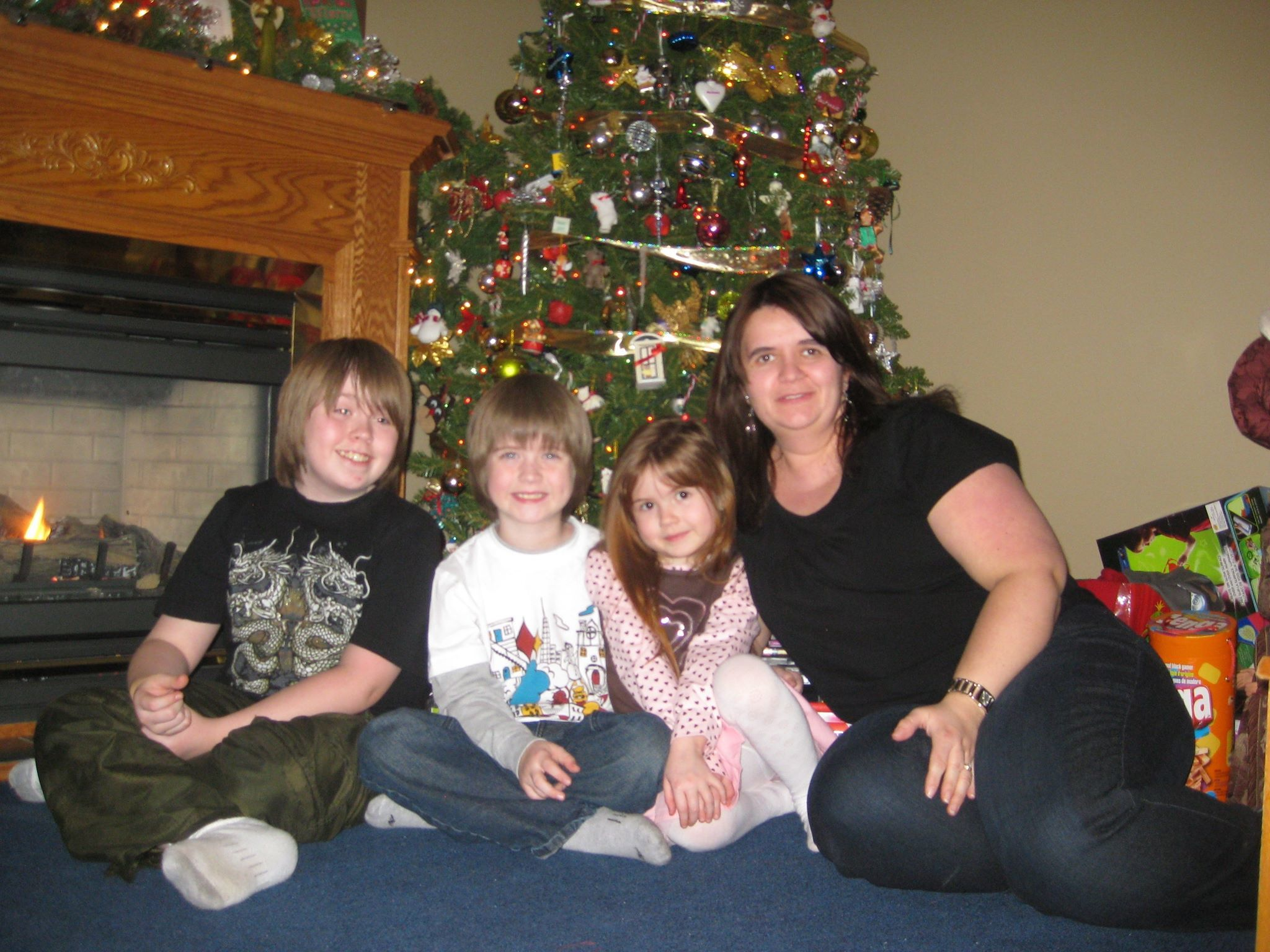 April McCarthy and her three children during Christmas 2009 — their first holiday without Chris McCarthy. (Submitted by April McCarthy)
