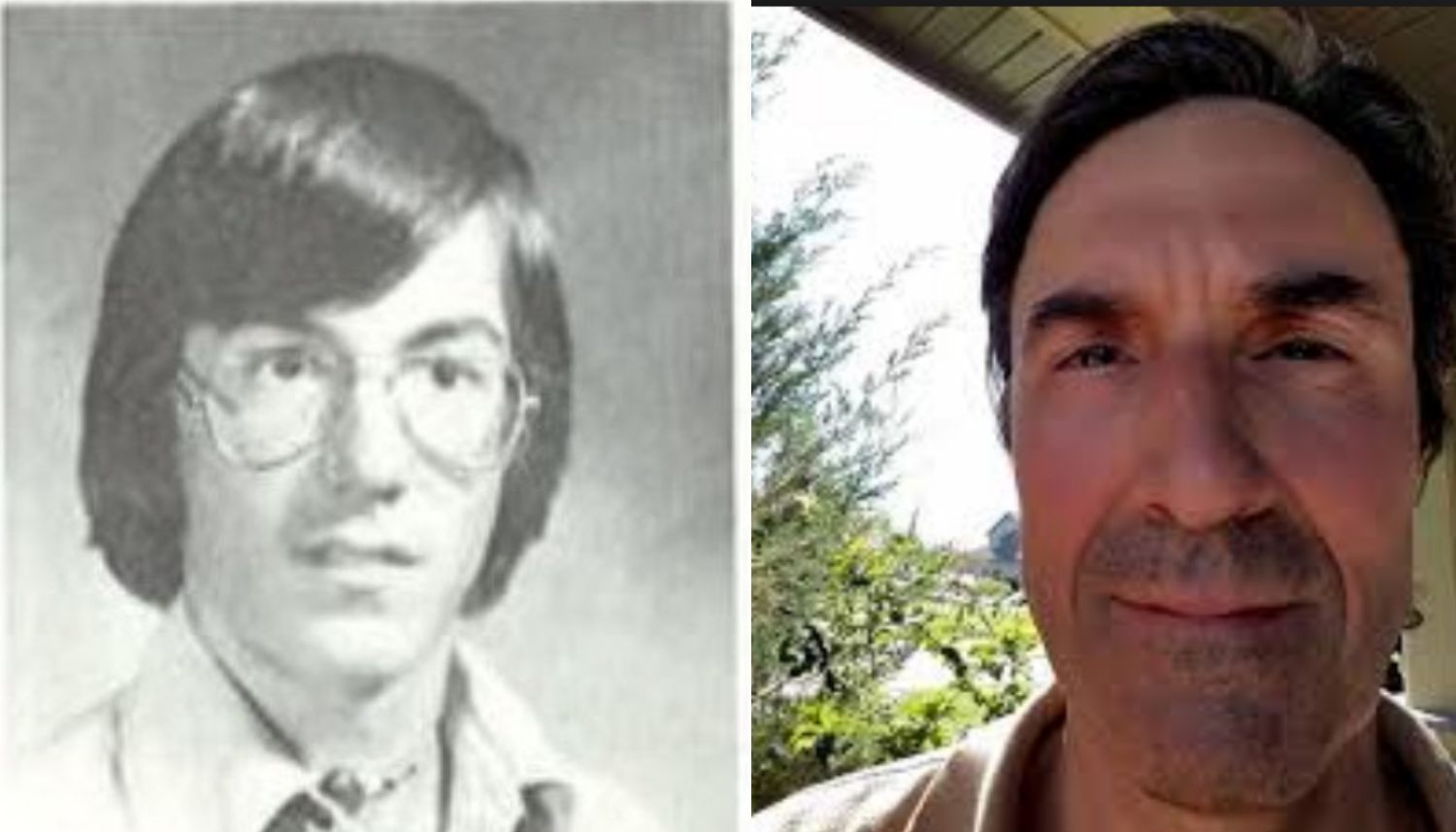 From left, Franz Glaus' yearbook photo from the late 1970s, and a more recent photo of Glaus. (Submitted)