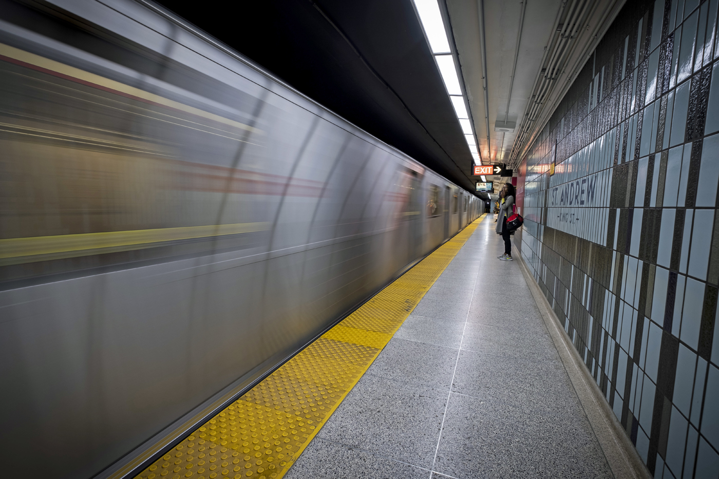 The TTC is trying to raise awareness that if people are contemplating suicide or just need to talk, help is a phone call away at 416-408-4357 or 416-408-HELP. (Evan Mitsui/CBC)