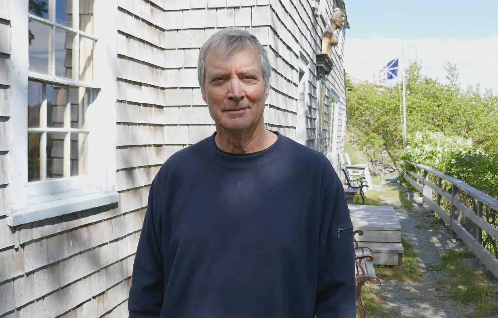 Thayer Carter, at Kent Cottage, Landfall, Brigus, 2018. (Heather Barrett/CBC)