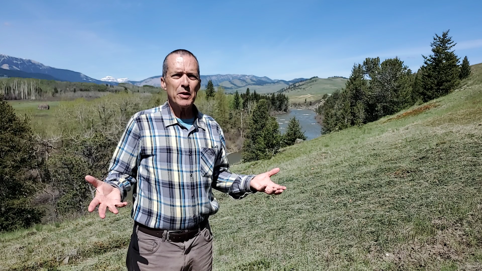 Kevin Van Tighem is a spokesman for the Livingstone Landowners Group, a collection of residents and business owners who advocate for land stewardship in southwestern Alberta. (Robson Fletcher/CBC)