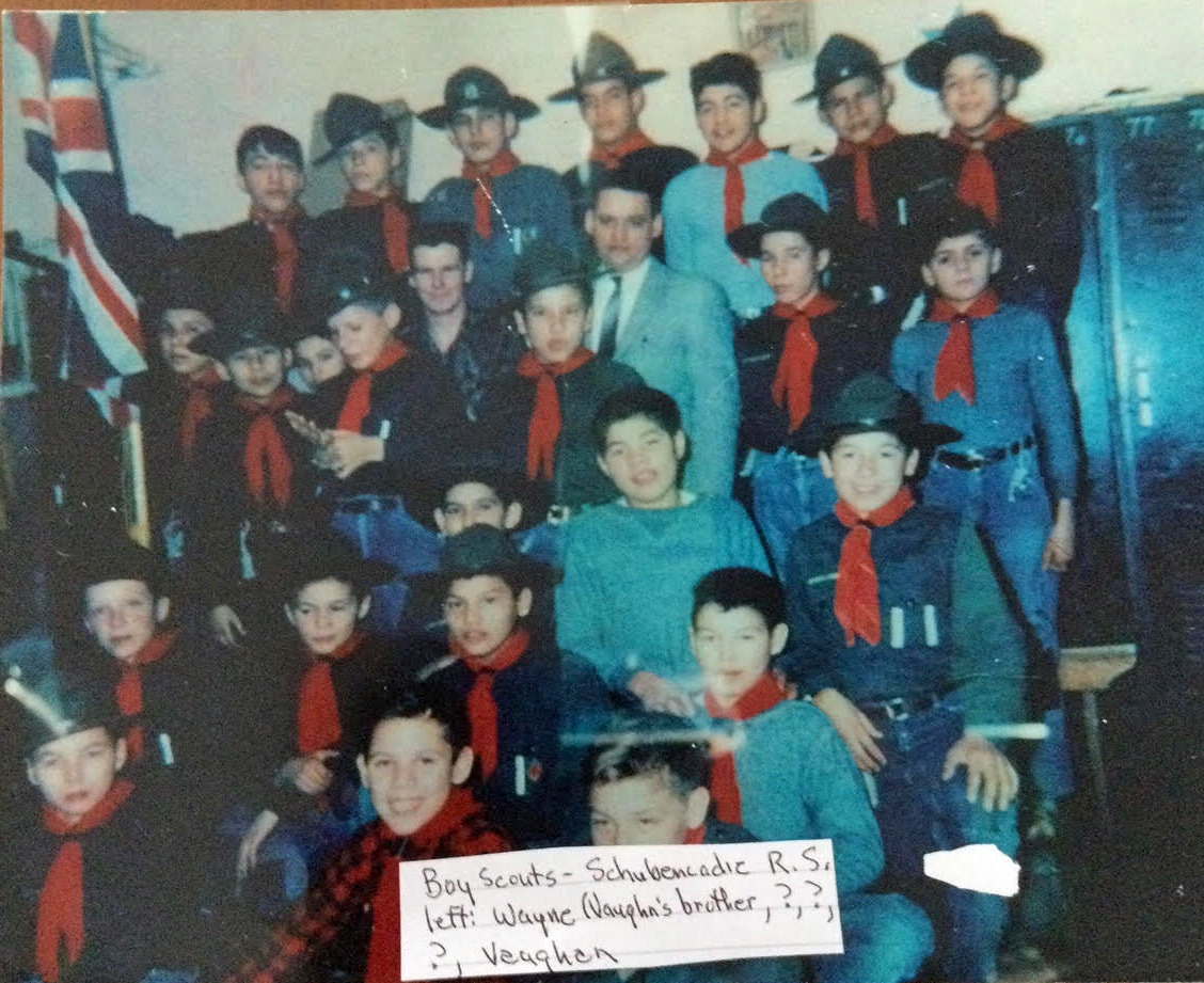 Vaughn Nicholas and his brother Wayne were enrolled in Scouts at the Shubenacadie residential school. (Submitted by Vaughn Nicholas)