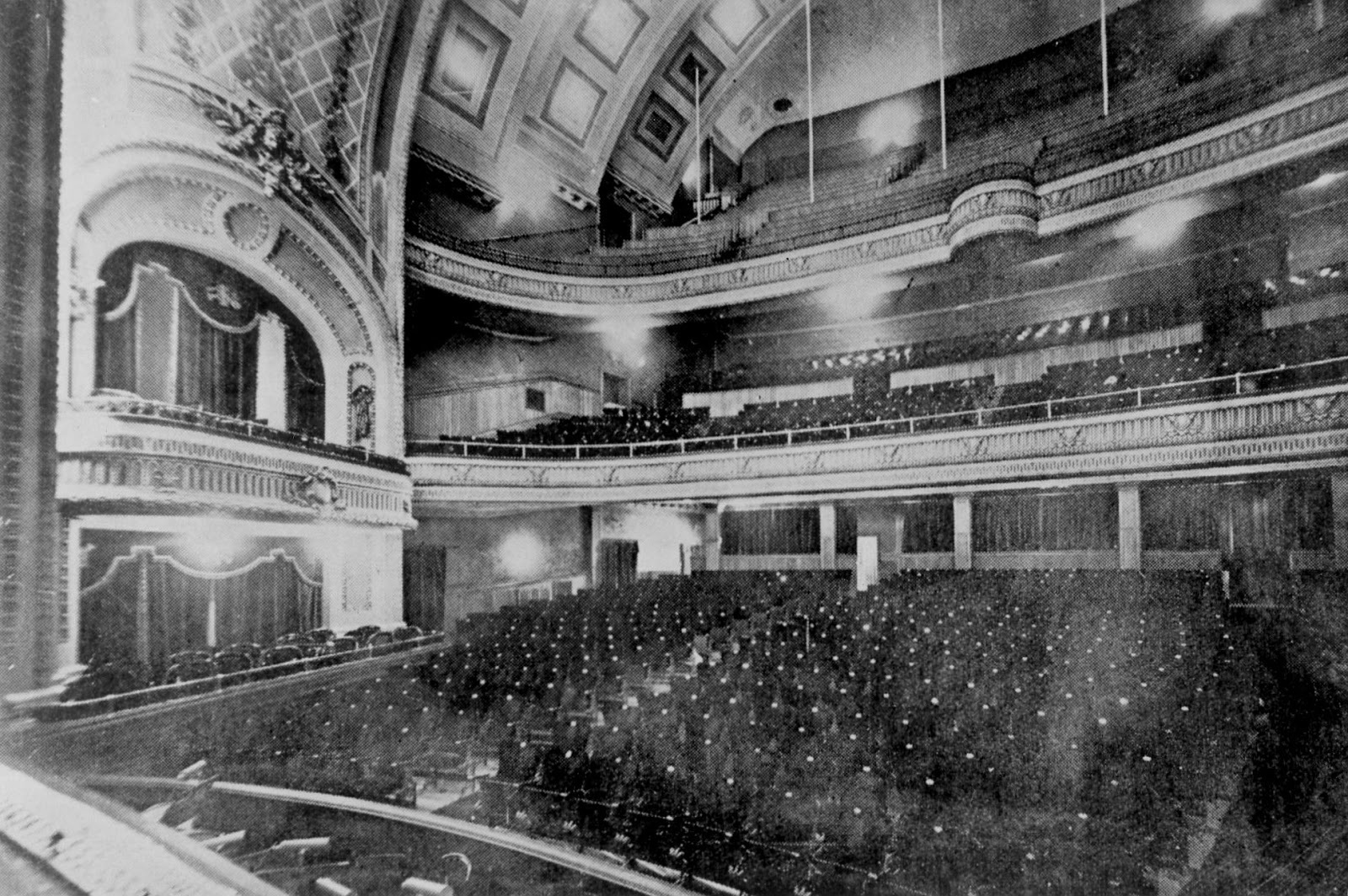 Some 1,700 people filled Winnipeg's Walker Theatre (now Burton Cummings Theatre) for the 1918 meeting, which helped stoke the labour activism in 1919 that led to the general strike. (Archives of Manitoba)