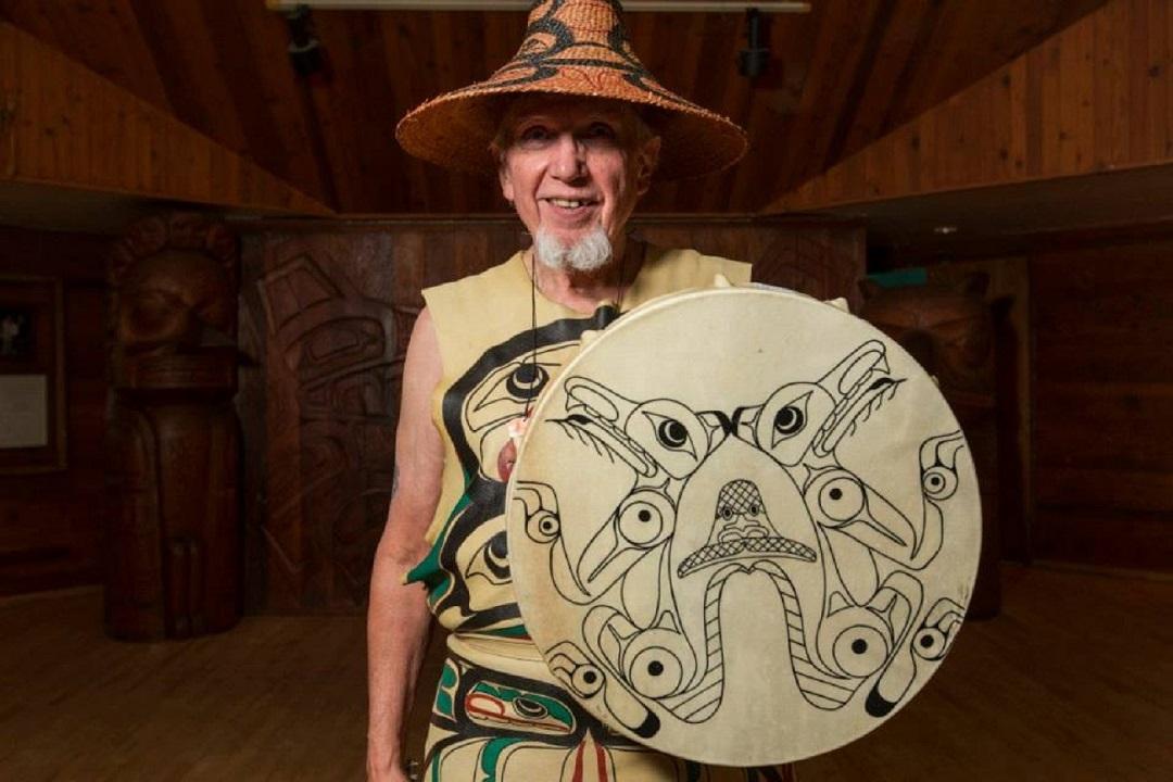 Woodrow Morrison Jr., a Haida elder and beloved storyteller passed away from COVID-19 on Jan. 28, 2021. (Javier Aguilar/Git Hayetsk/Facebook)
