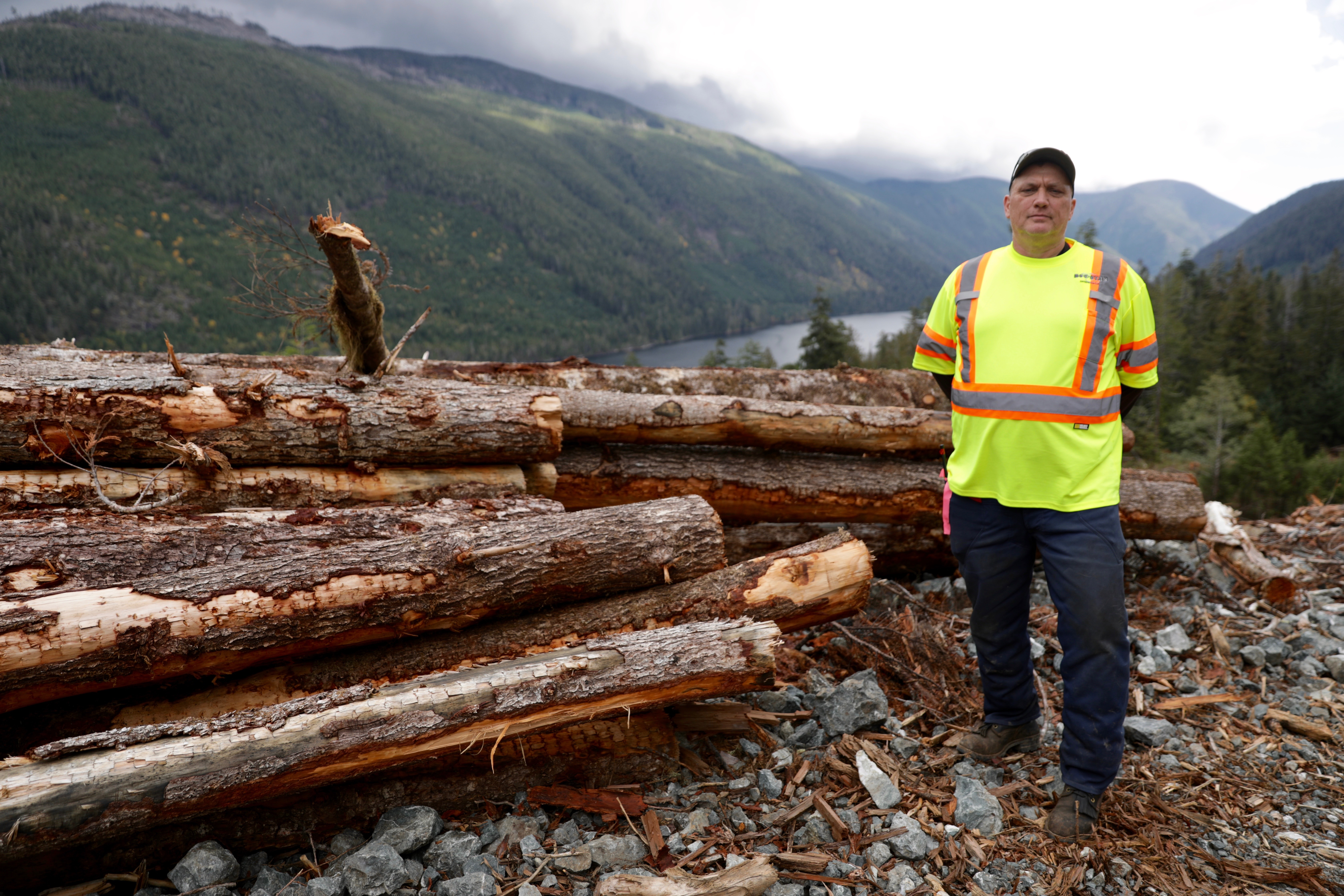 Zoltan Schafer has been logging in B.C. since he was 14. He says a lot has changed in the industry since the 1970s to protect old growth. (Chris Corday/CBC)