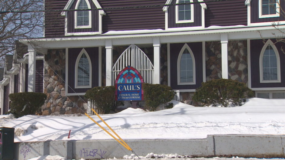Caul's Funeral Home in St. John's. File image by CBC