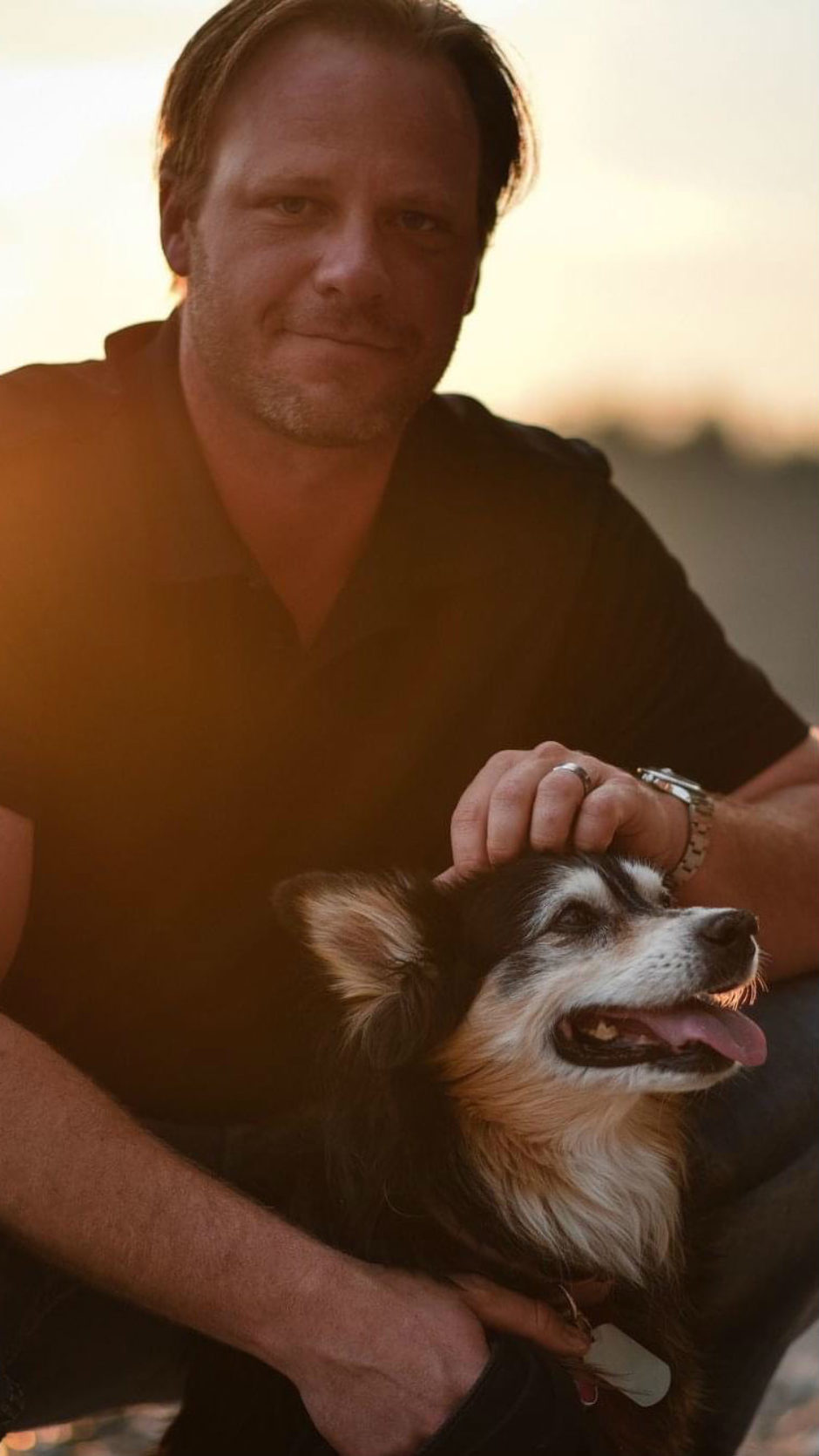 Brandon Niwa and his dog, Missy, are seen in this photo. Brandon died by suicide in May 2020, the first in a series of deaths by suicide among a group of similarly aged men in Medicine Hat that happened throughout the summer.