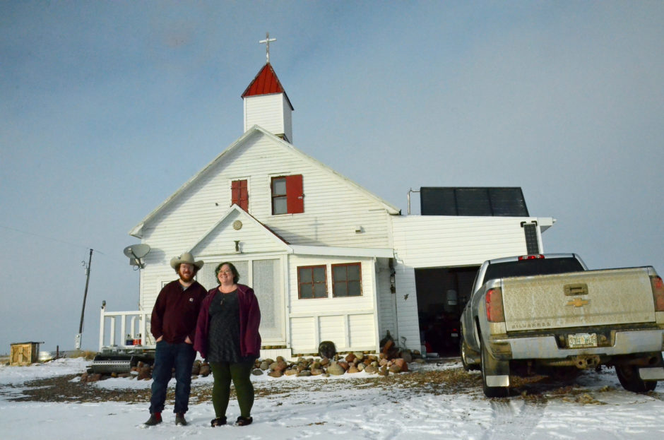 Brad and Colleen Proudlove live in an old Catholic church in Rosefield, Sask.