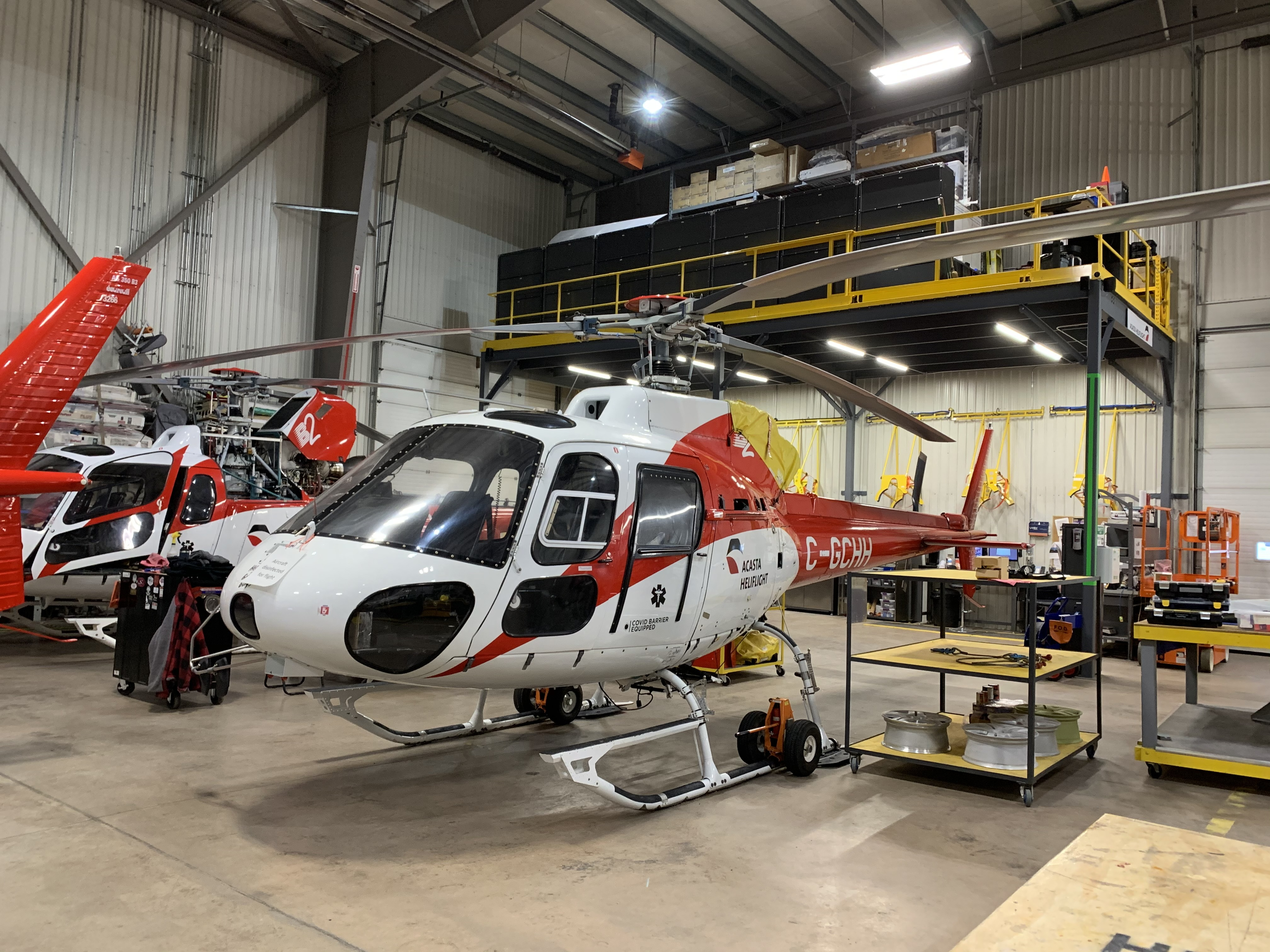 The Acasta helicopter hanger in Yellowknife (Sidney Cohen/CBC)