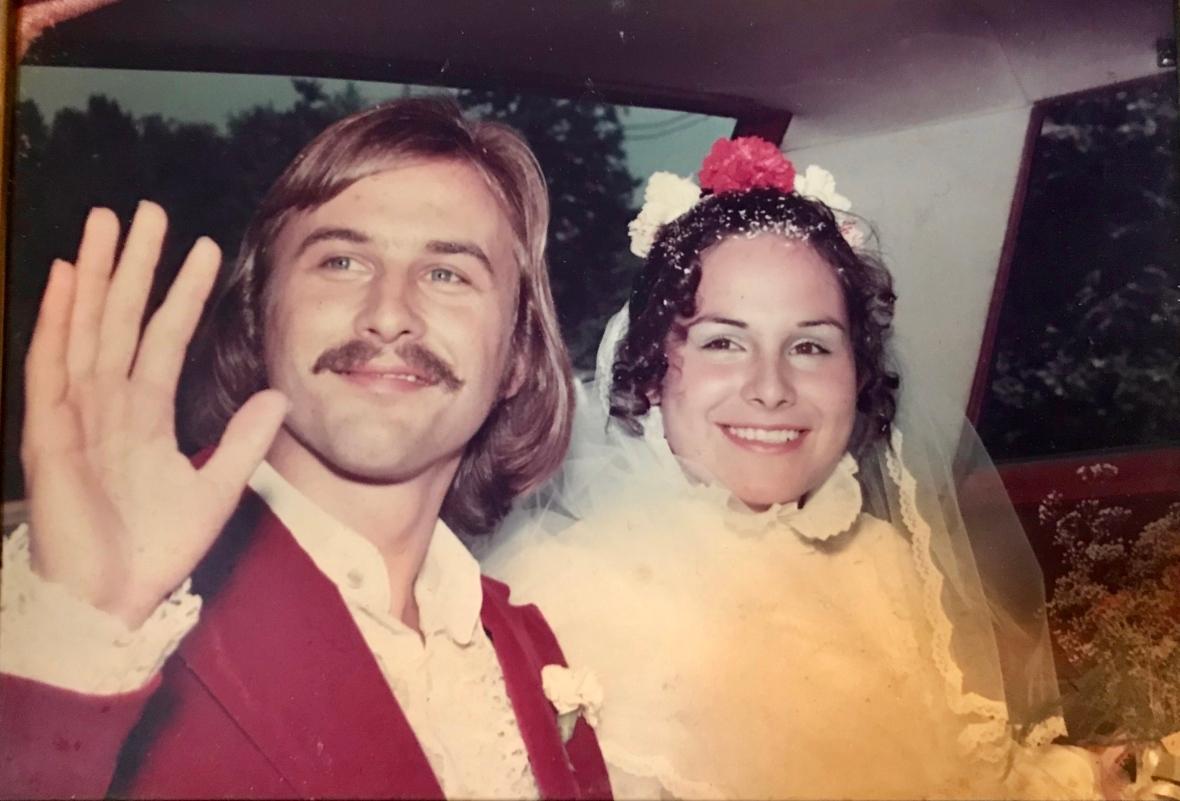 Anton Kolstee and his wife, Maribell Naturalli-Kolstee, on their wedding day. Anton died in December 2020 in North Vancouver. (Submitted by Jullian Kolstee)