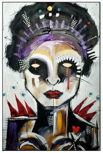 La déesse de l'exorcisme 36 x 24'' acrylic on canvas 2014. (Mélissa Deschênes)