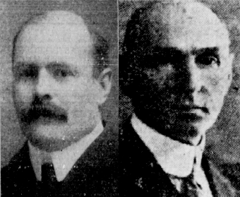 Edward and Leonard Barrett obtained court injunctions forbidding workers from picketing outside Vulcan Iron Works in the early 1900s. (Winnipeg Evening Tribune)