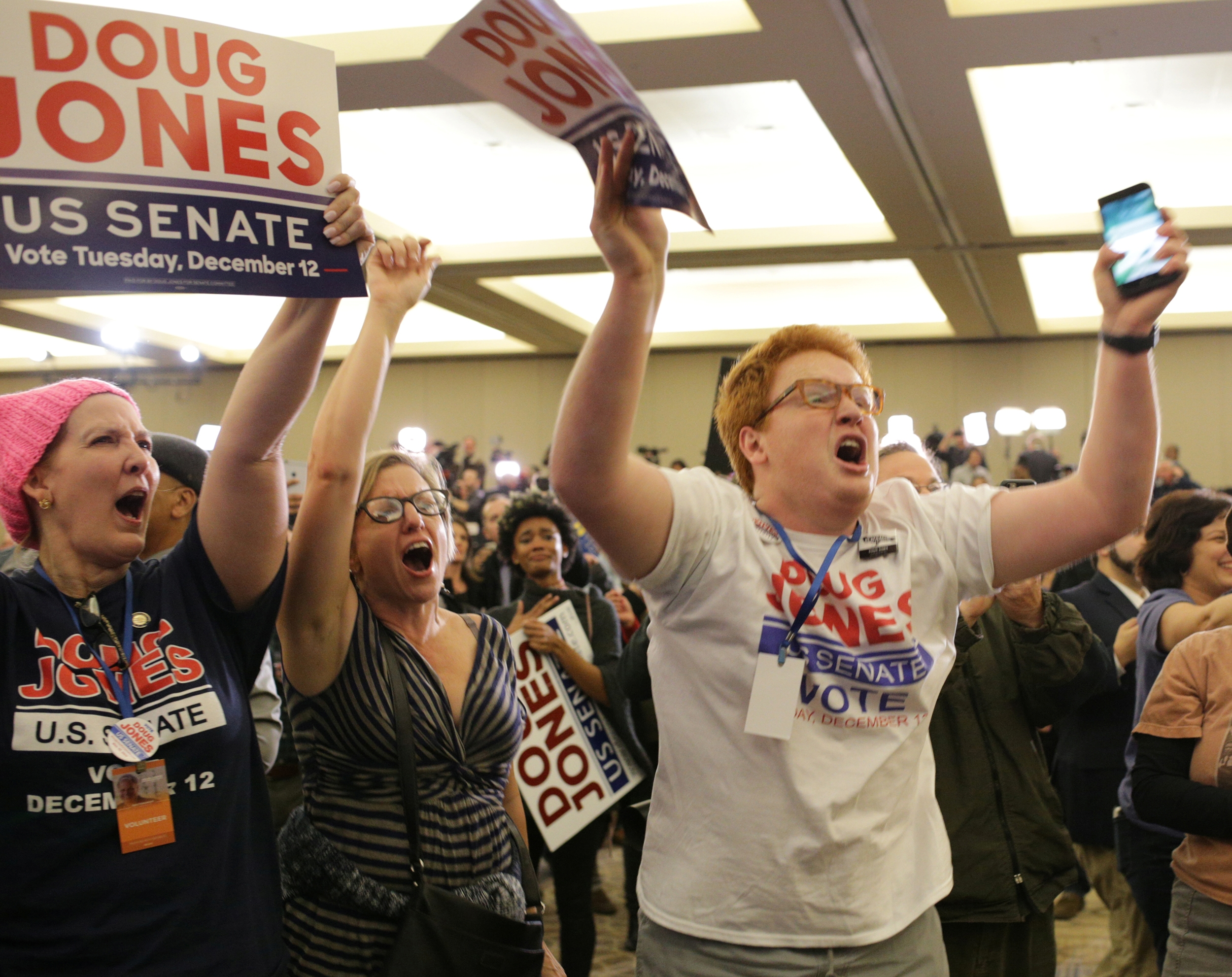 Doug Jones' victory in December 2017 was seen as a huge boost to Democrat chances in the 2018 midterms. (Marvin Gentry/Reuters)