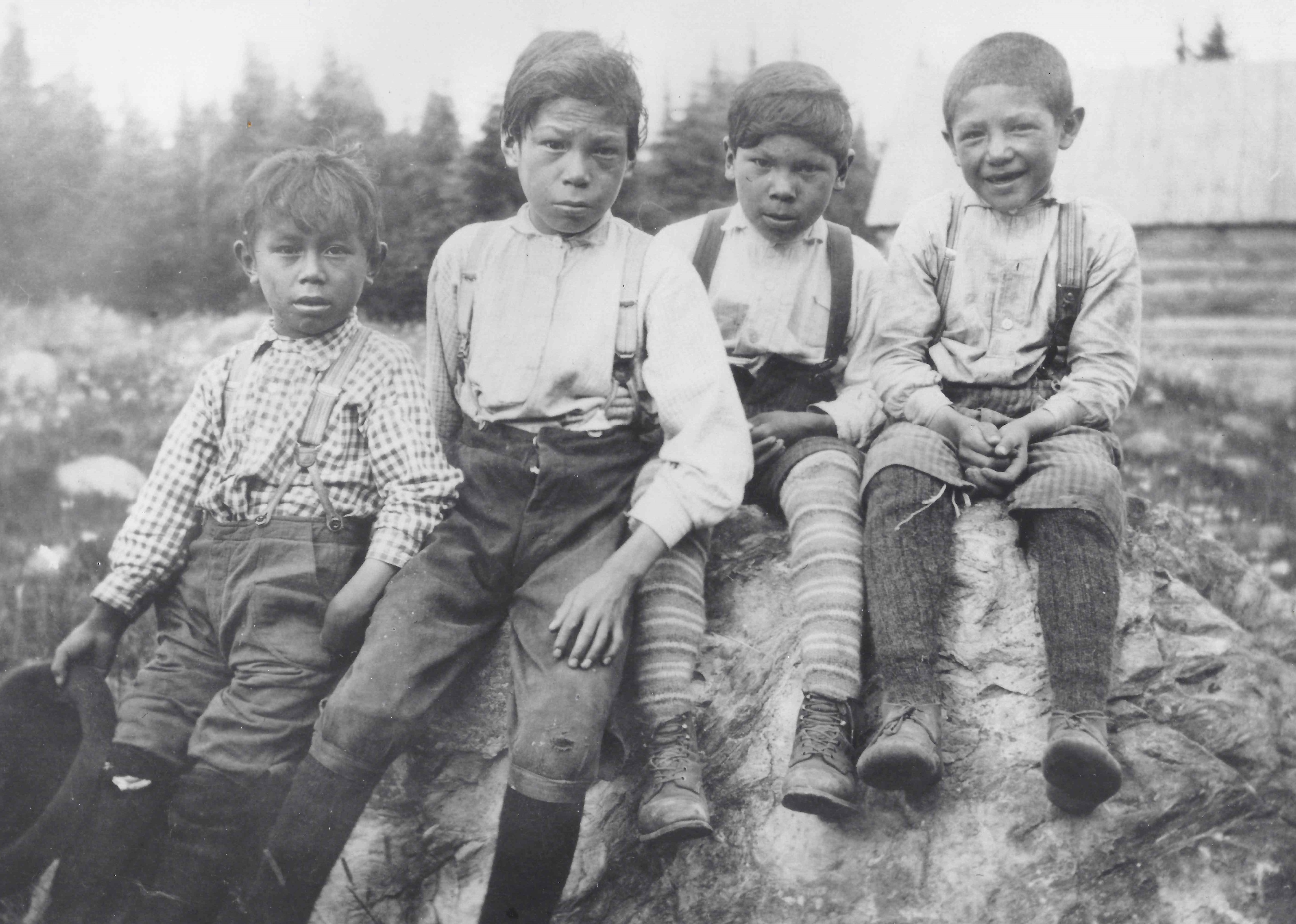 Boys — Timiskaming or Temagami circa 1913. (Frank Speck/American Philosophical Society)