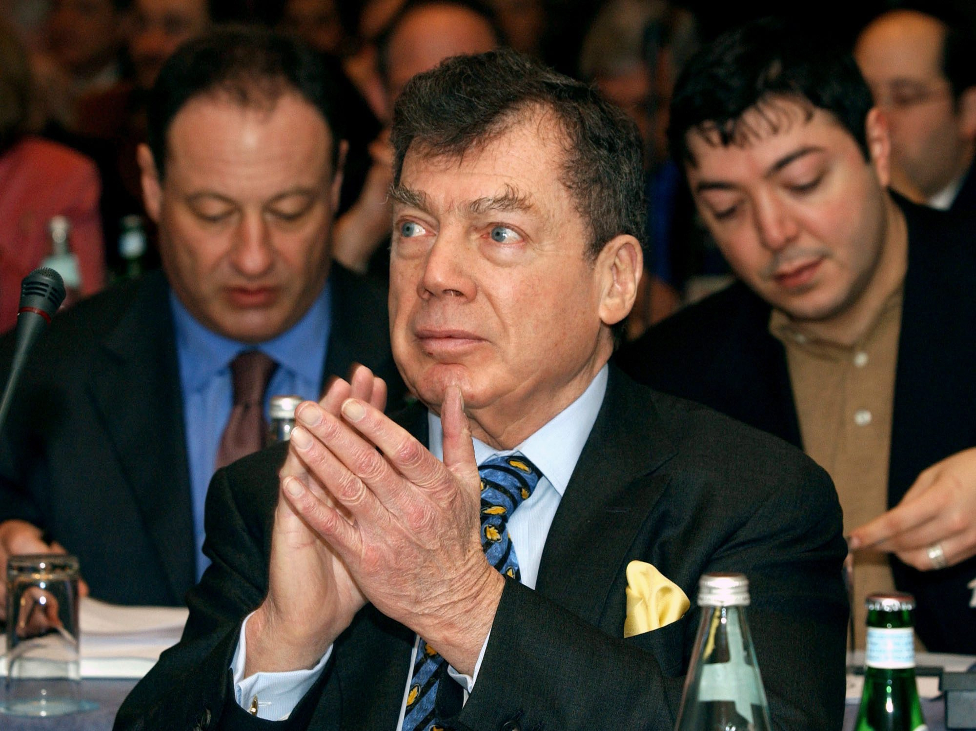The late Canadian billionaire Edgar Bronfman Sr., seen at a 2005 meeting of the World Jewish Congress in Brussels, once described NXIVM as a cult. (Thierry Charlier/Associated Press)