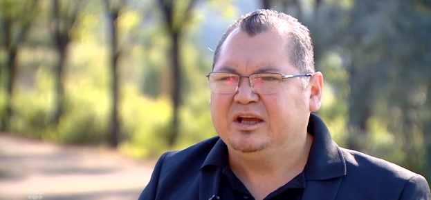 Papaschase First Nation Chief Calvin Bruneau hopes to find a Papaschase burial site in southeast Edmonton. (CBC Edmonton)