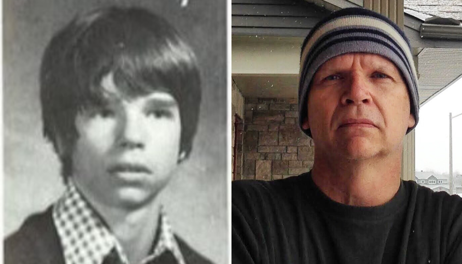 From left, John Cattell's yearbook photo from 1977, and a more recent photo of Cattell. (Submitted)