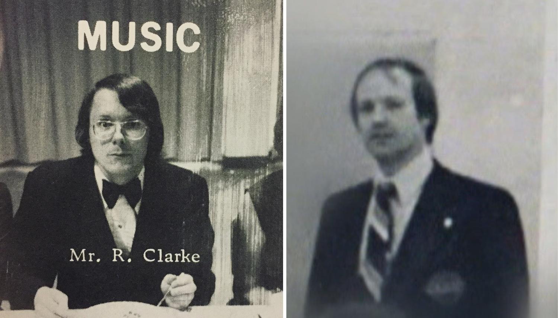 Left: Music teacher Bob Clarke. Right: Basketball coach Don Greenham.