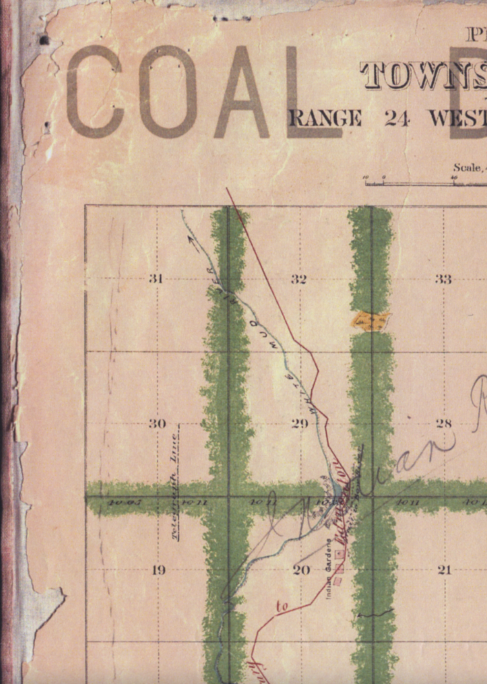 This archival map shows Quadrant 31 (top left), an area three researchers at the University of Alberta are investigating. (Submitted)
