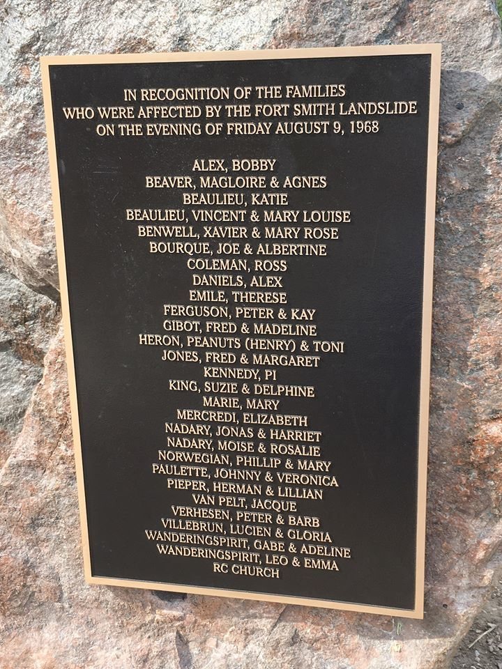 This plaque commemorates the people impacted by the landslide. There is also a bench dedicated to Kay Ferguson. (Submitted by Shannon Coleman)