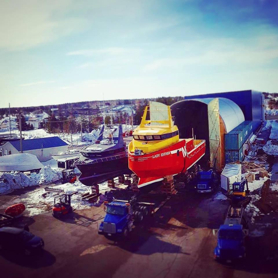 Atlantic Boat Builders in Bas-Caraquet, N.B., recently turned out this massive crab boat, Lady Esther. (Construction Navale Atlantique)