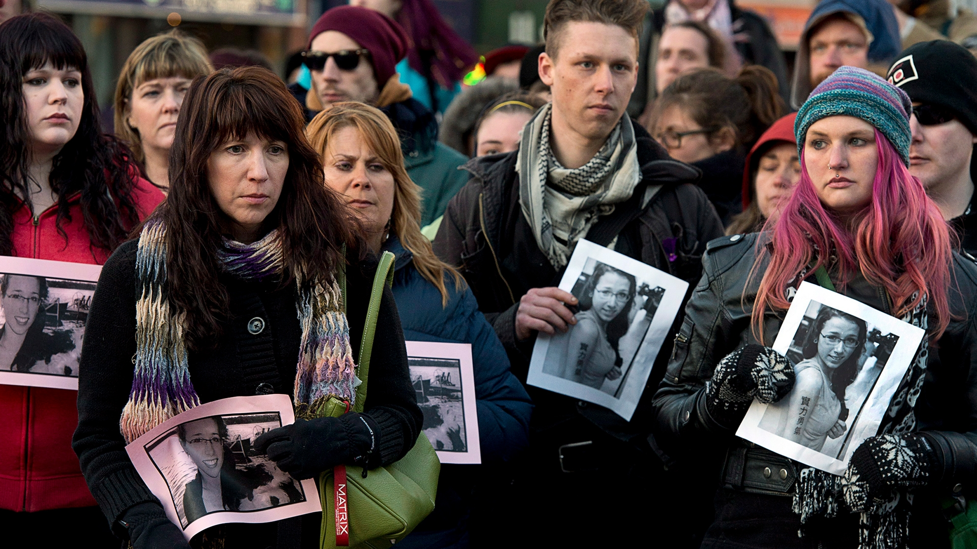 People attend a vigil in memory of Rehtaeh at Halifax's Victoria Park on April 11, 2013. (Andrew Vaughan/Canadian Press)