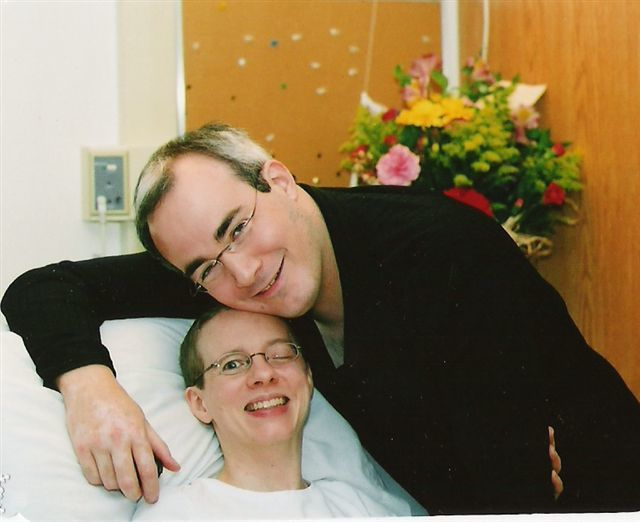 Debbie Maloney and her partner Glenn Parsons during her recovery. (Submitted)