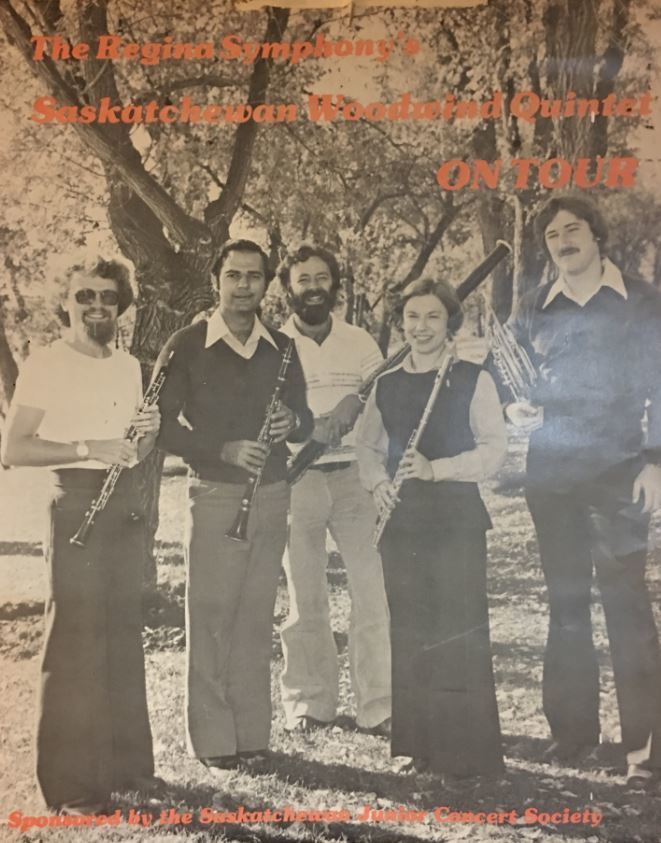Alan Denike, third from right, was part of the Regina Symphony Chamber Players since 1974.