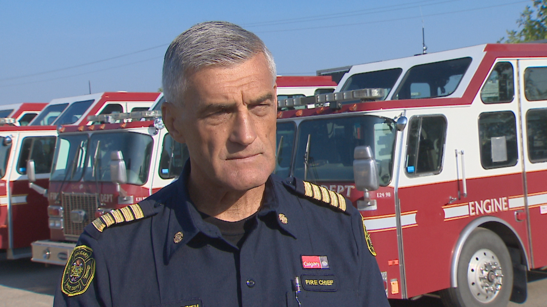 Calgary Fire Department Chief Steve Dongworth, seen in a file photo, says the department is committed to the process of building a more respectful workplace. (CBC)
