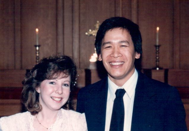 Doug Fung and Bronwyn James on their wedding day. (Submitted by Bronwyn James)