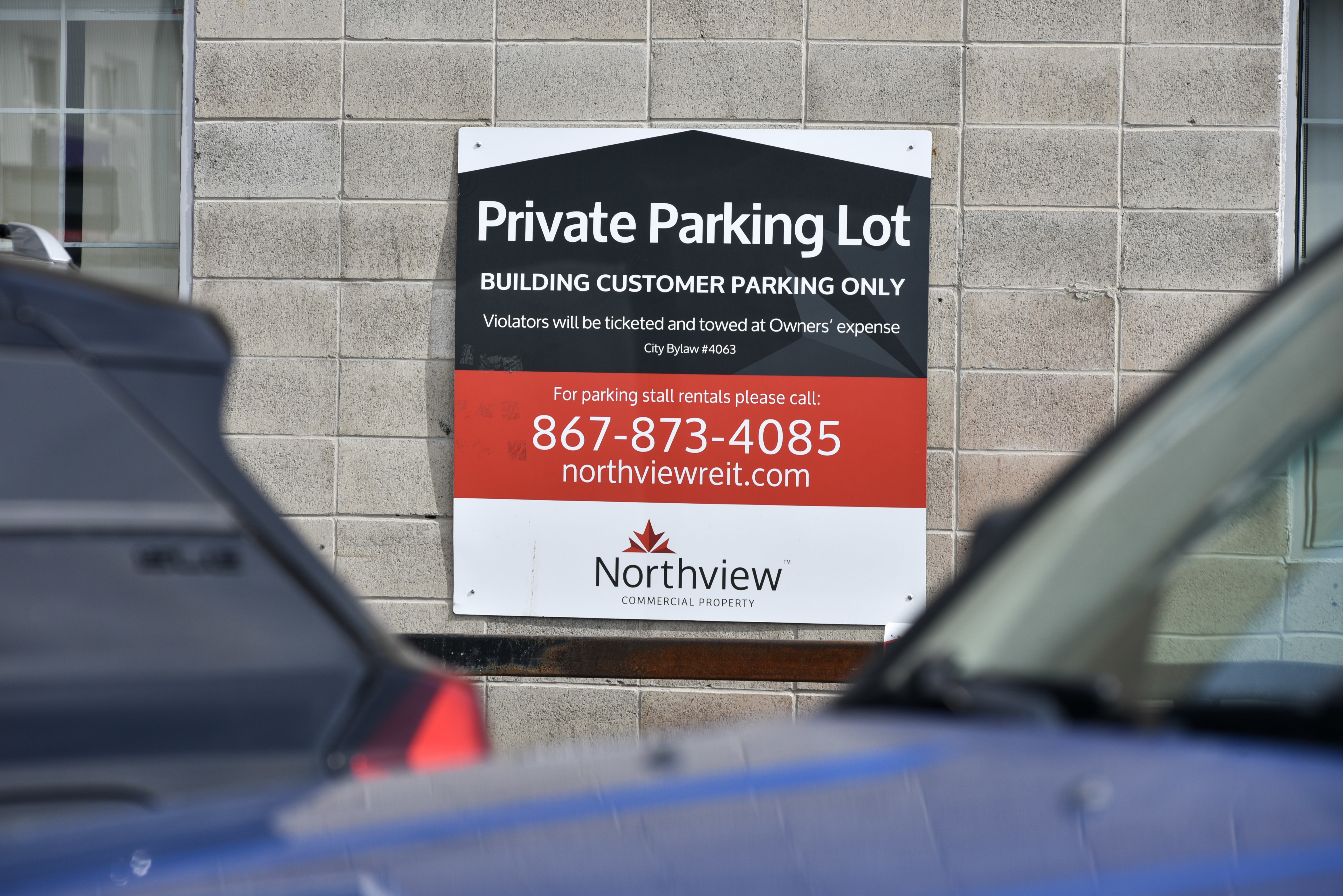 A Northview parking sign in downtown Yellowknife. The company's holdings are now just a small part of a larger corporate entity. (Walter Strong/CBC)