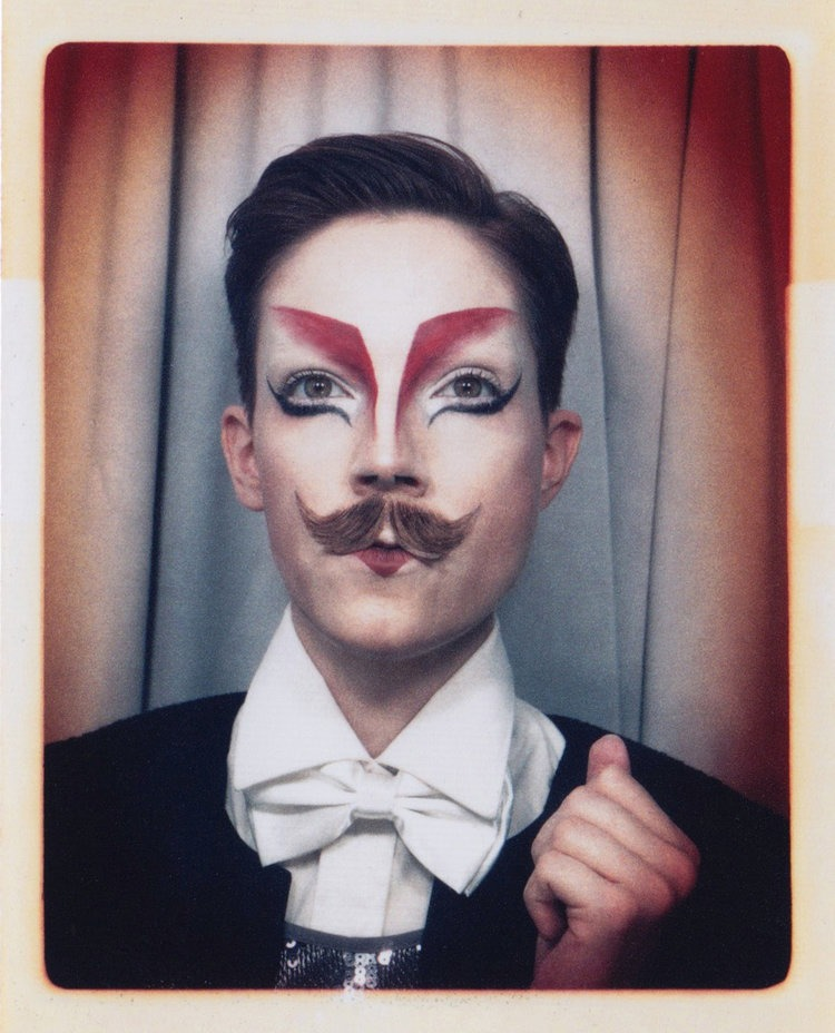 Meags Fitzgerald has done artist residencies and workshops in photo booths. Here, she is dressed in one of her drag personas, the Dark Magician. Her frequent drag persona, HercuSleaze, even has his own Instagram account. (Submitted by Meags Fitzgerald)
