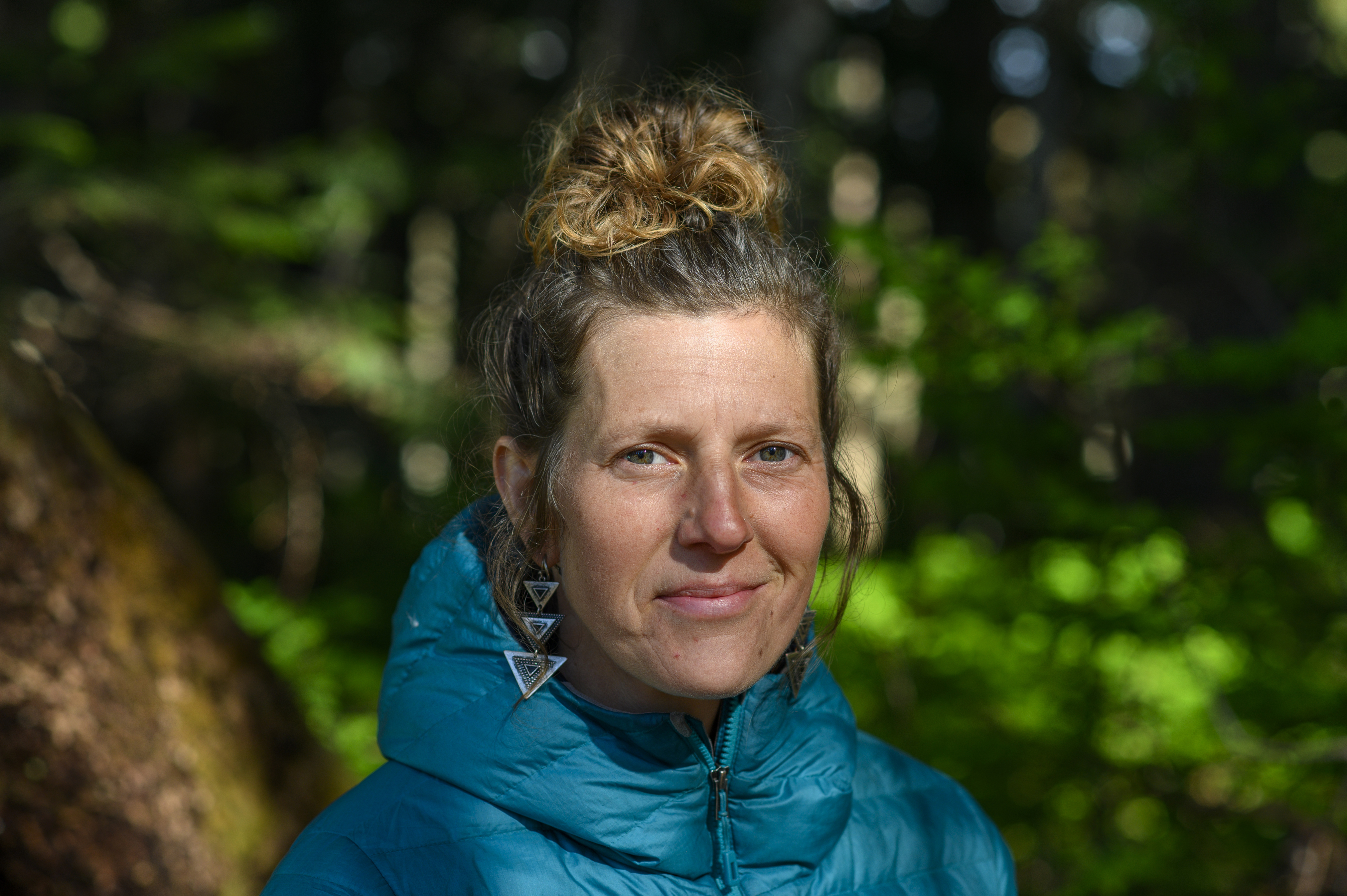 Shawna Knight, one of the Ridge Camp protesters, is of mixed Norwegian and Secwepemc heritage but says she has lived most of her life estranged from the Indigenous part of her identity. (Kieran Oudshoorn/CBC)