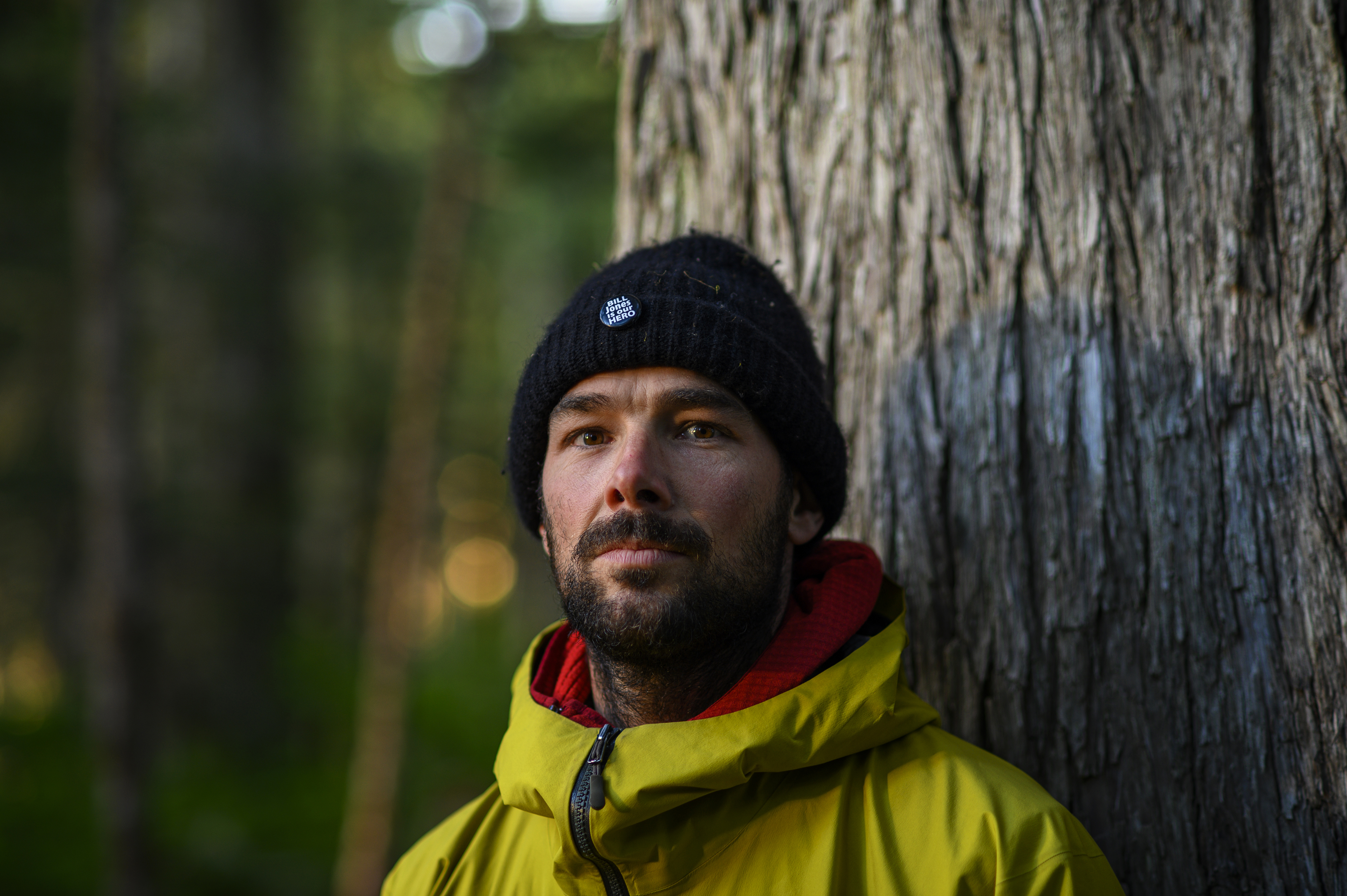 Jean-François Savard moved to the West Coast to become a commercial fisherman but changed careers after the industry declined and became a carpenter. He's been helping man the blockades for more than two months. (Kieran Oudshoorn/CBC)