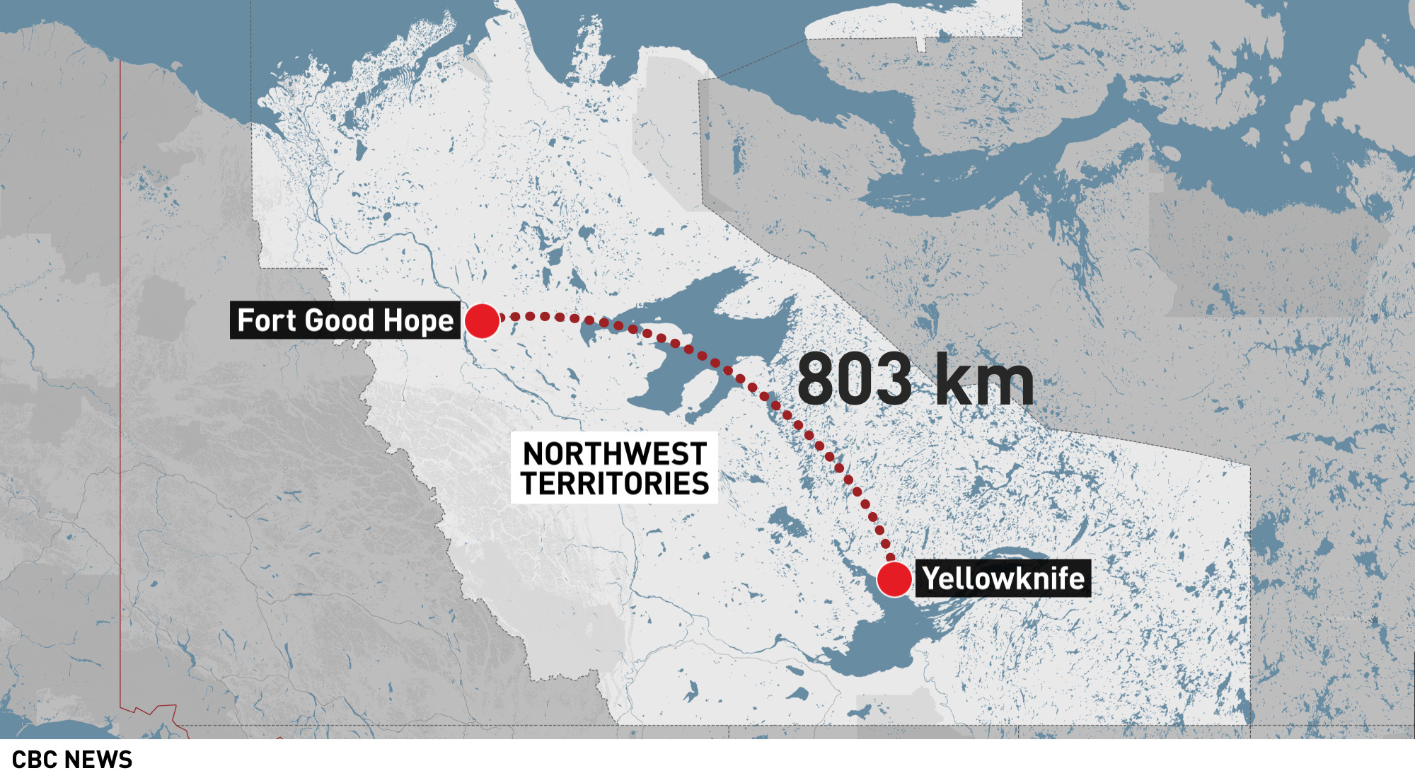 Fort Good Hope is about 800 kilometres northwest of Yellowknife. It's only accessible by air during the summer months. With shipping, construction materials cost twice as much as they do in southern Canada.