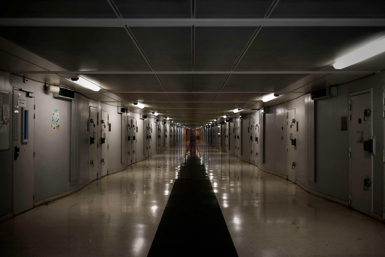A corridor inside Fleury-Mérogis prison. (Philippe Lopez/AFP/Getty Images)