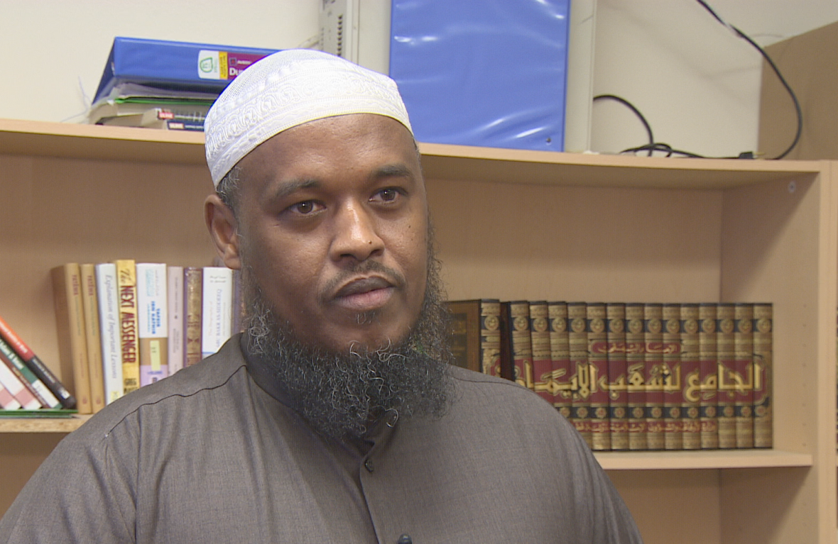 Last spring, Imam Hassan Ibrahim of the Abu Huraira Centre, the mosque where homicide victim Samatar Farah used to pray, demanded clarification about just what police meant when they deemed his death 'targeted.' (Barry Smith/CBC)